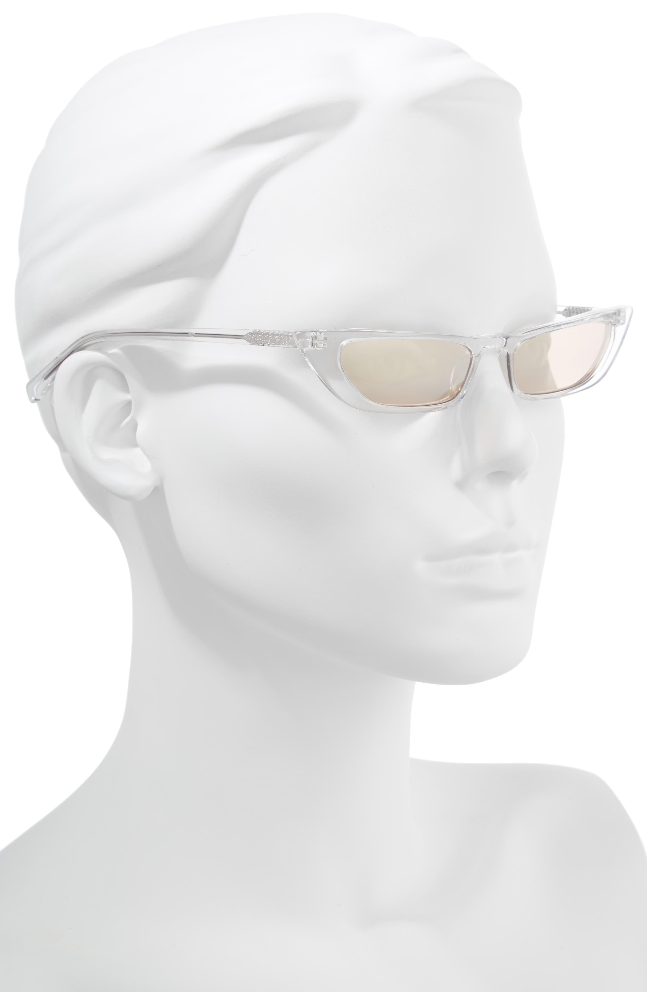 Vivian Extreme 51mm Cat Eye Sunglasses,                             Alternate thumbnail 2, color,                             Crystal/ Golden Hour Gradient