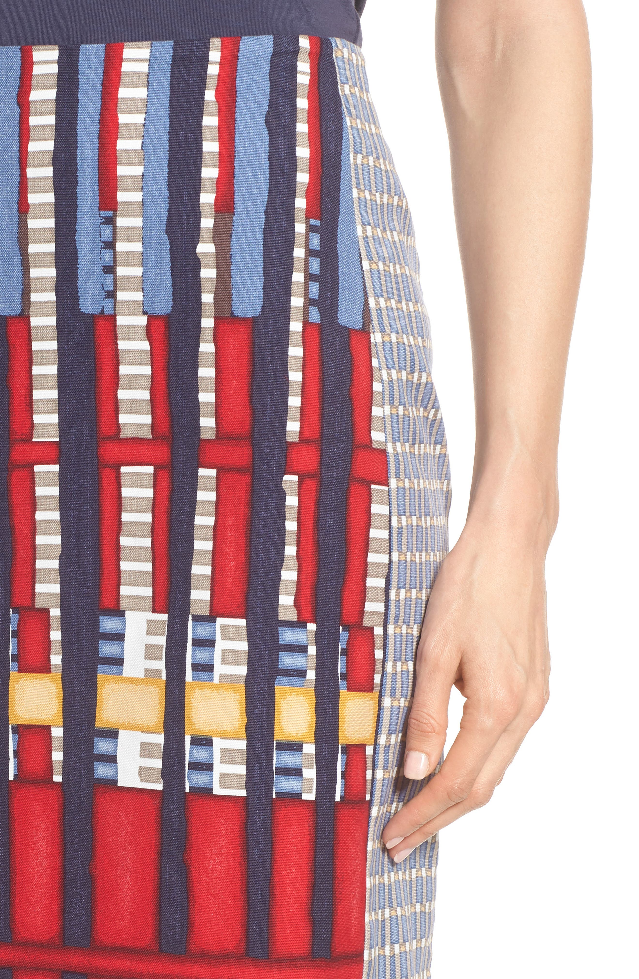 Santiago Hills Block Skirt,                             Alternate thumbnail 4, color,                             Multi