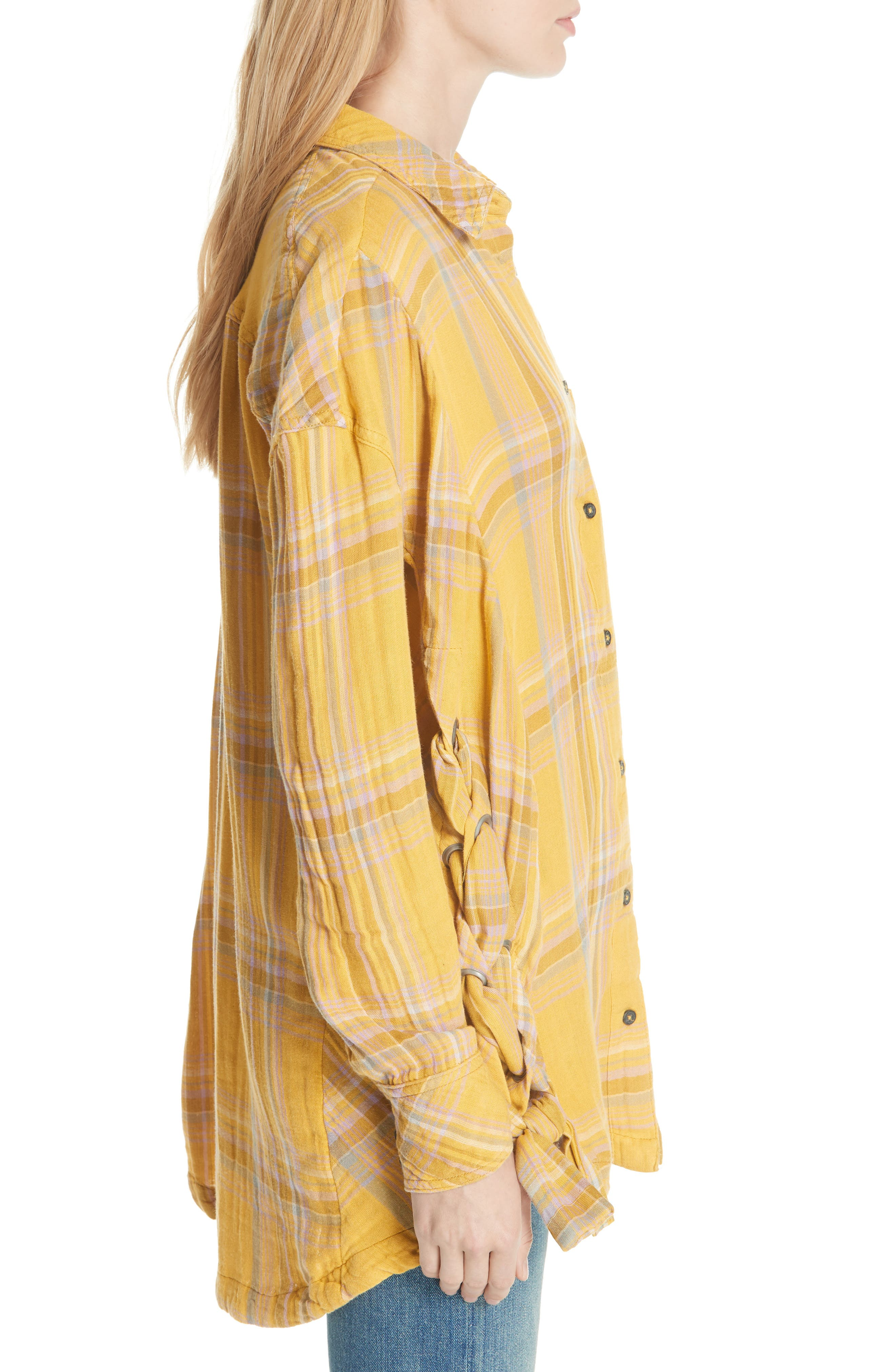 Nordic Day Top,                             Alternate thumbnail 3, color,                             Yellow