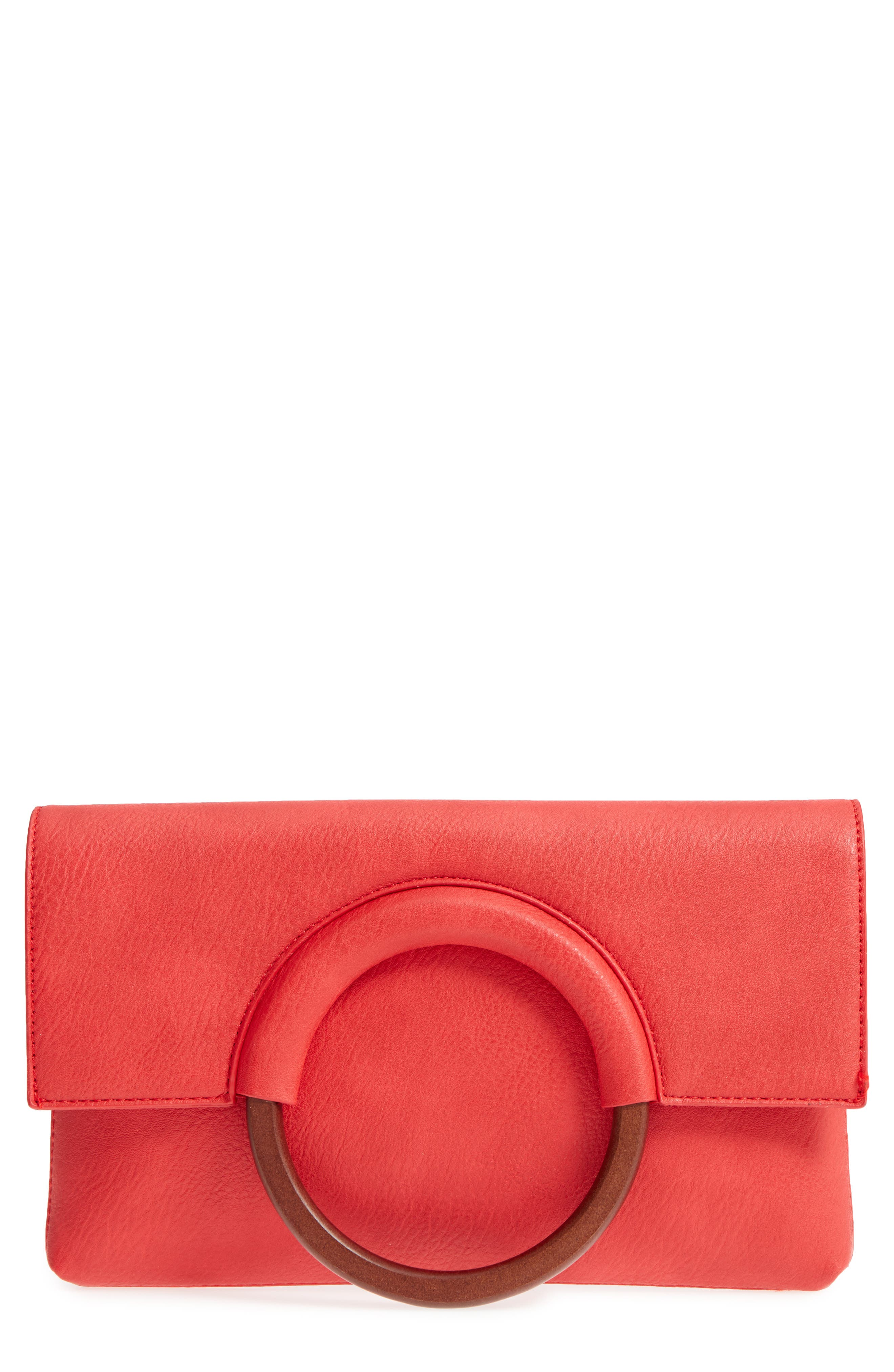 BP. Faux Leather Circle Clutch