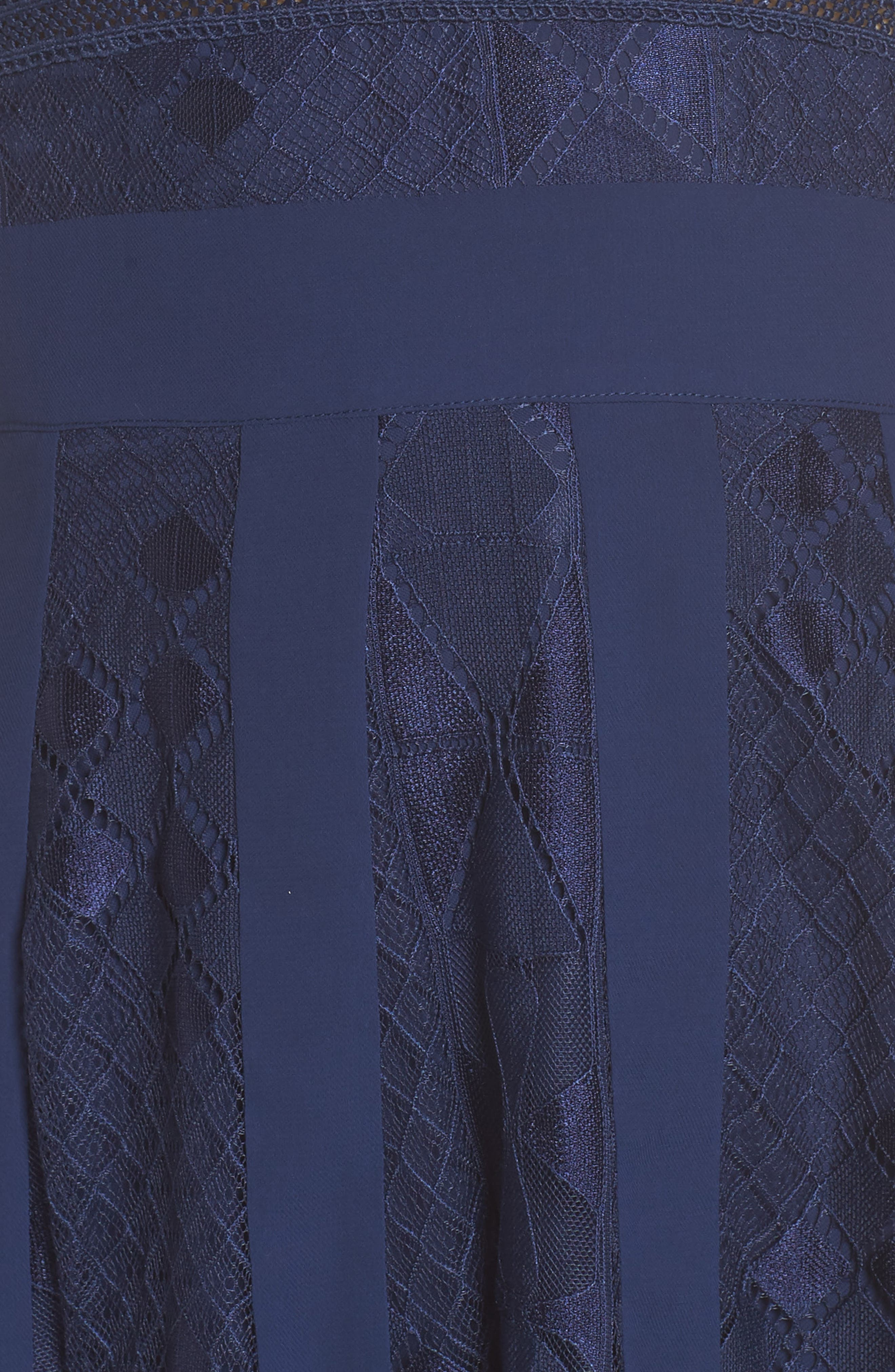 Juliet Sleeveless Lace Dress,                             Alternate thumbnail 5, color,                             Navy