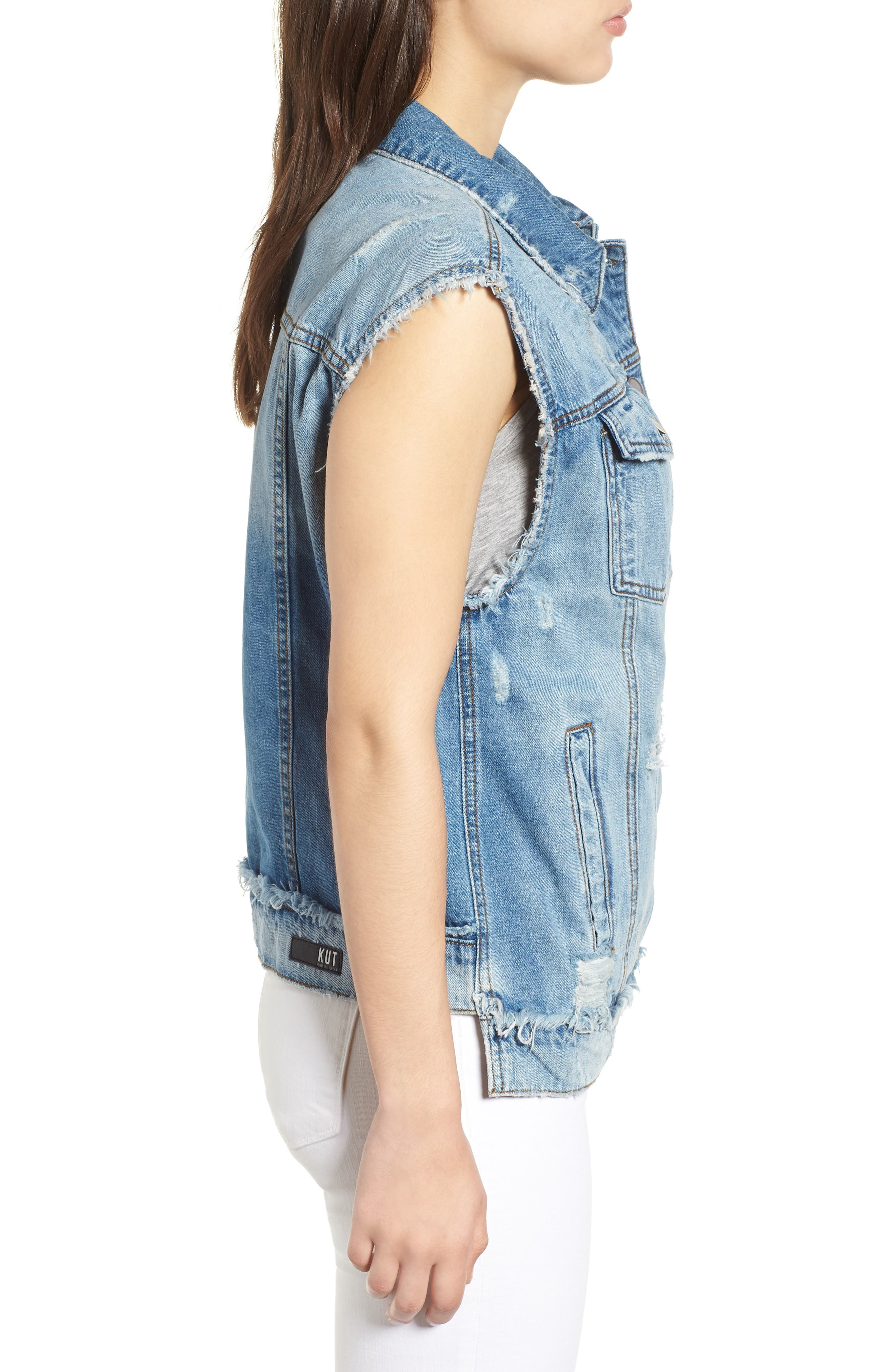 KUT from the Kloth Denim Vest,                             Alternate thumbnail 3, color,                             Augmented