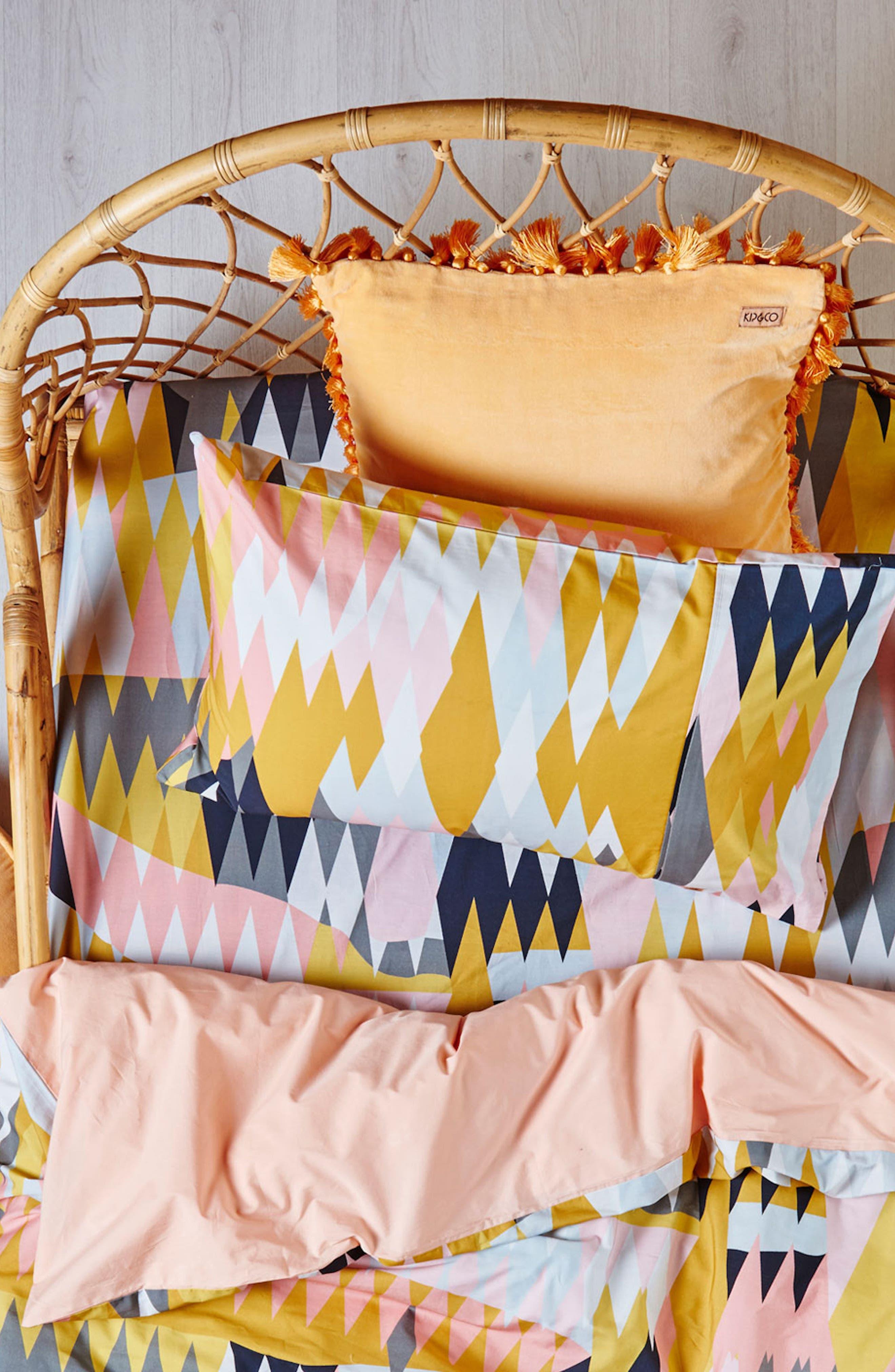 Croc Desert Fitted Cotton Sheet,                             Alternate thumbnail 3, color,                             Multi