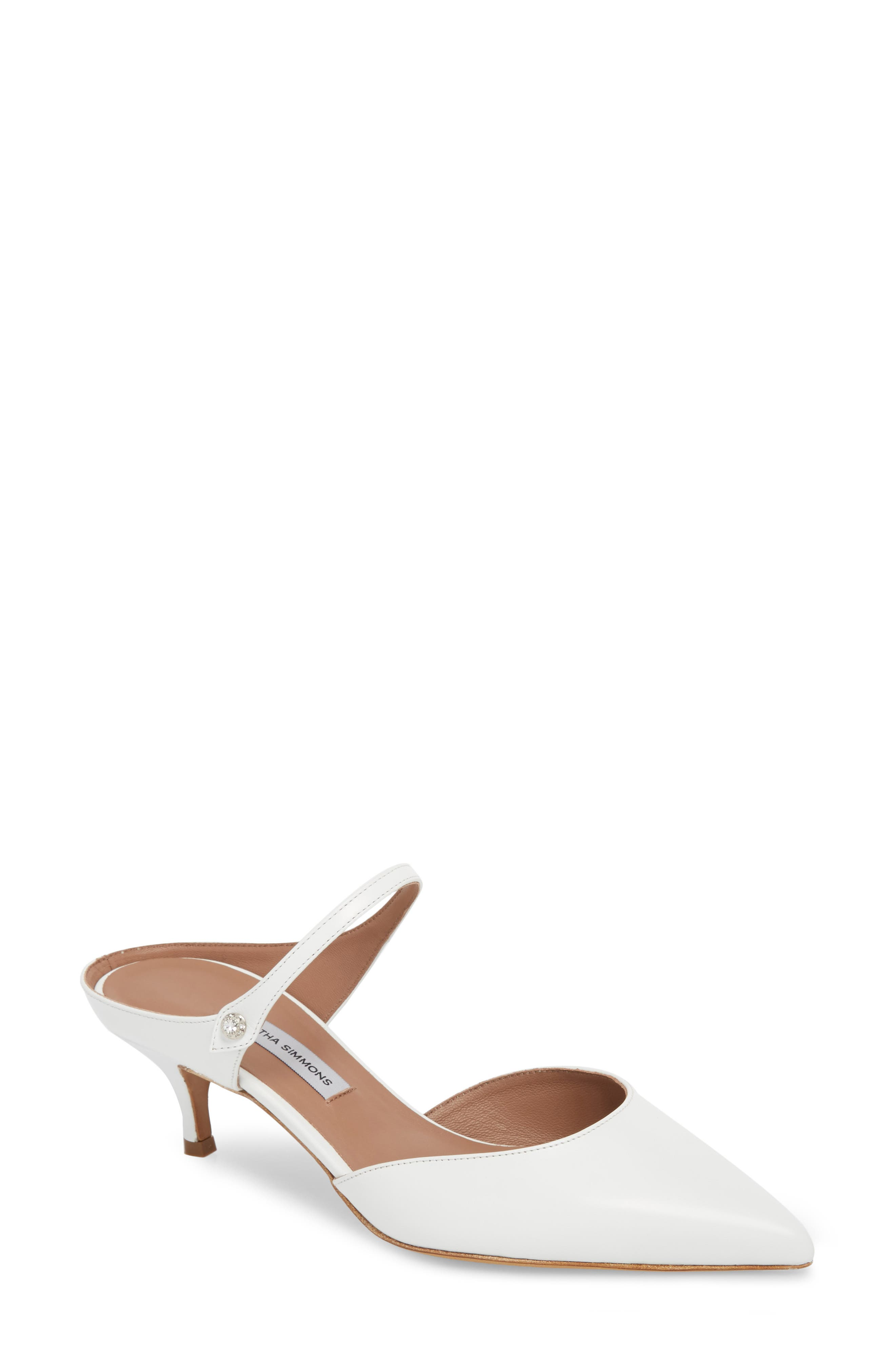 Liberty Leather Pumps in White
