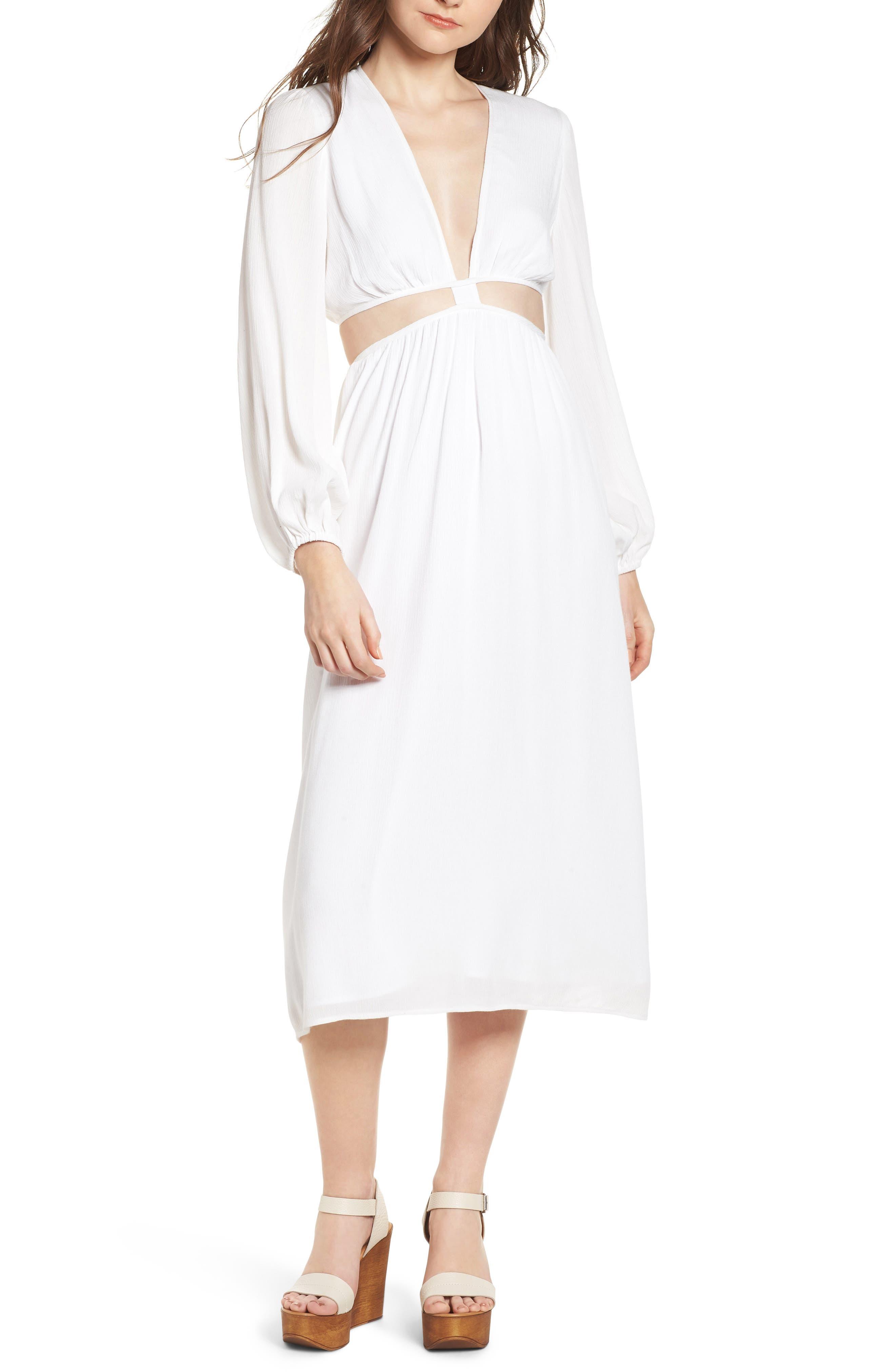 Babylon Cutout Dress,                             Main thumbnail 1, color,                             Ivory