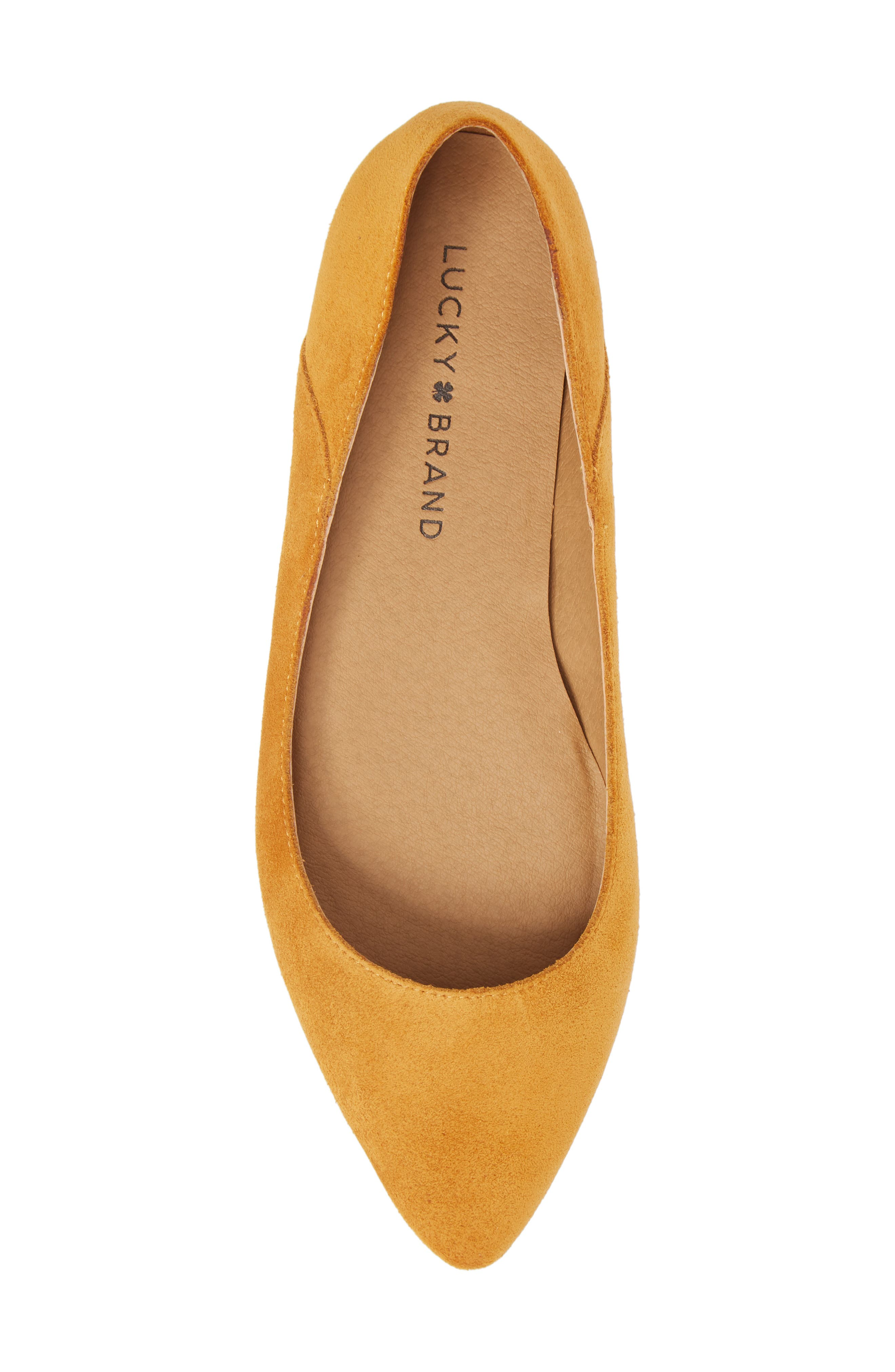 Bylando Flat,                             Alternate thumbnail 5, color,                             Inca Gold Suede