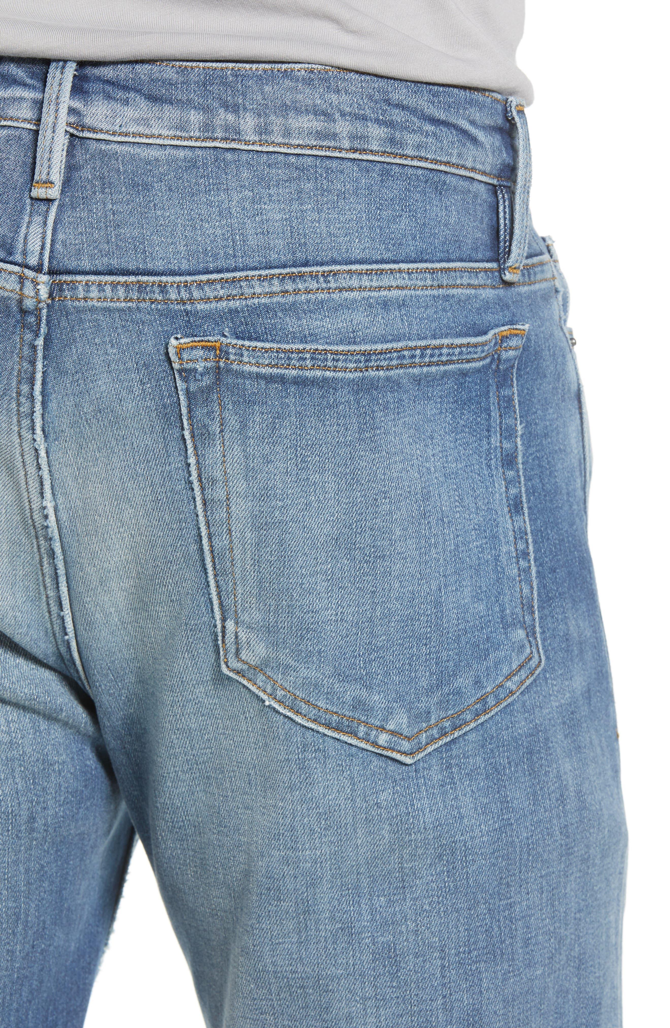 L'Homme Slim Fit Jeans,                             Alternate thumbnail 4, color,                             Yucca