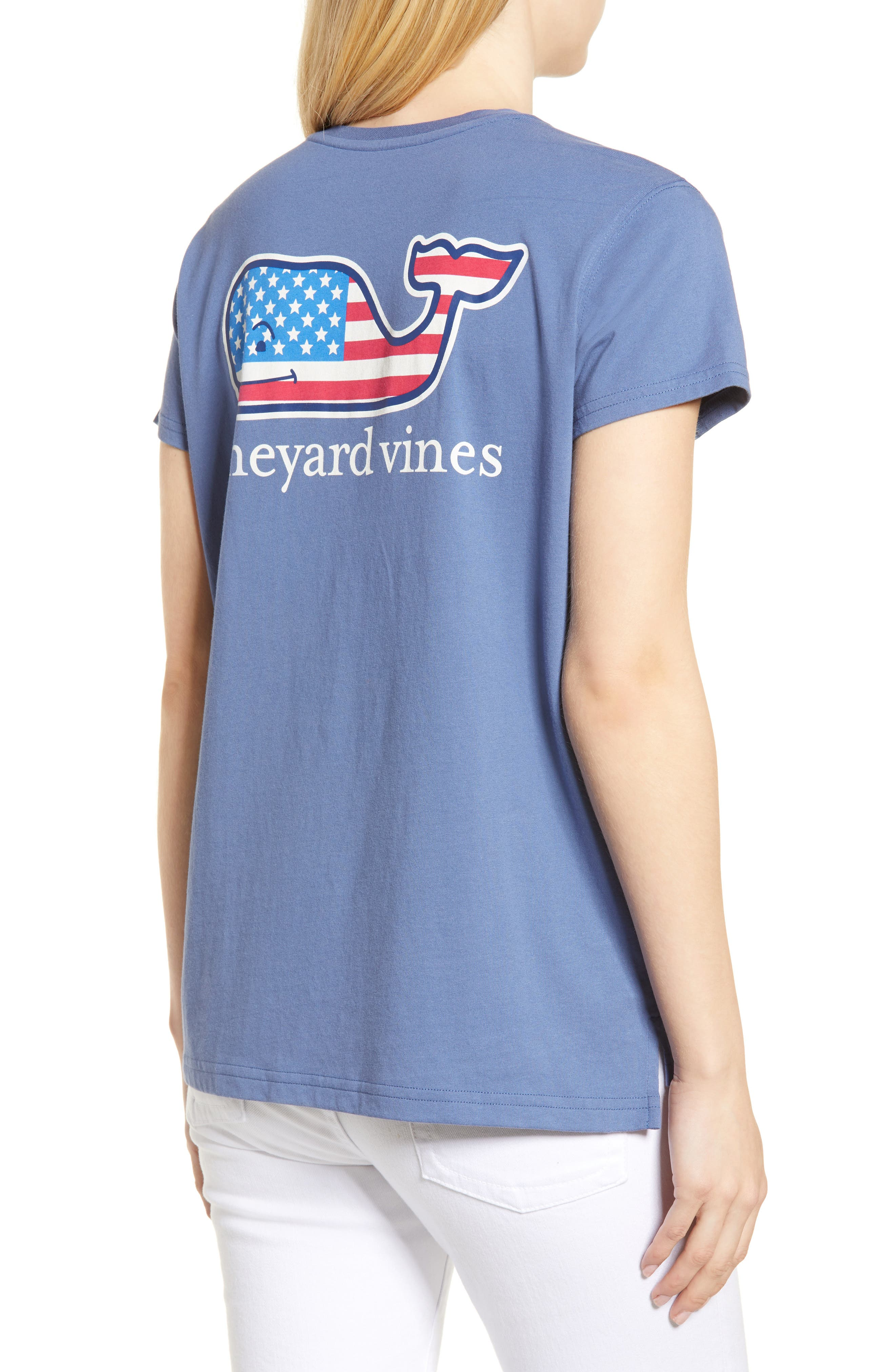 Whale Flag Pocket Tee,                             Alternate thumbnail 2, color,                             Moonshine