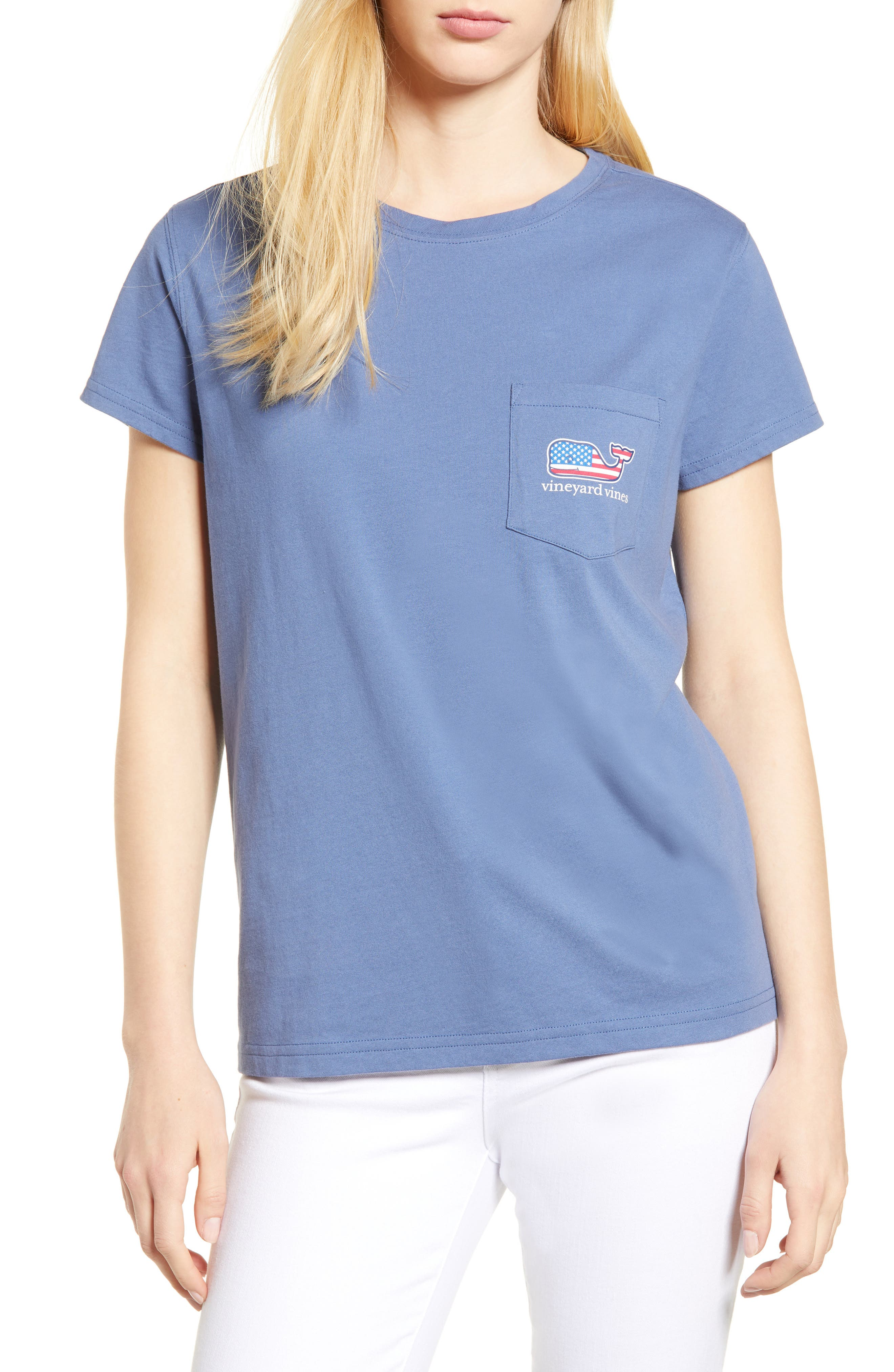 Whale Flag Pocket Tee,                             Main thumbnail 1, color,                             Moonshine