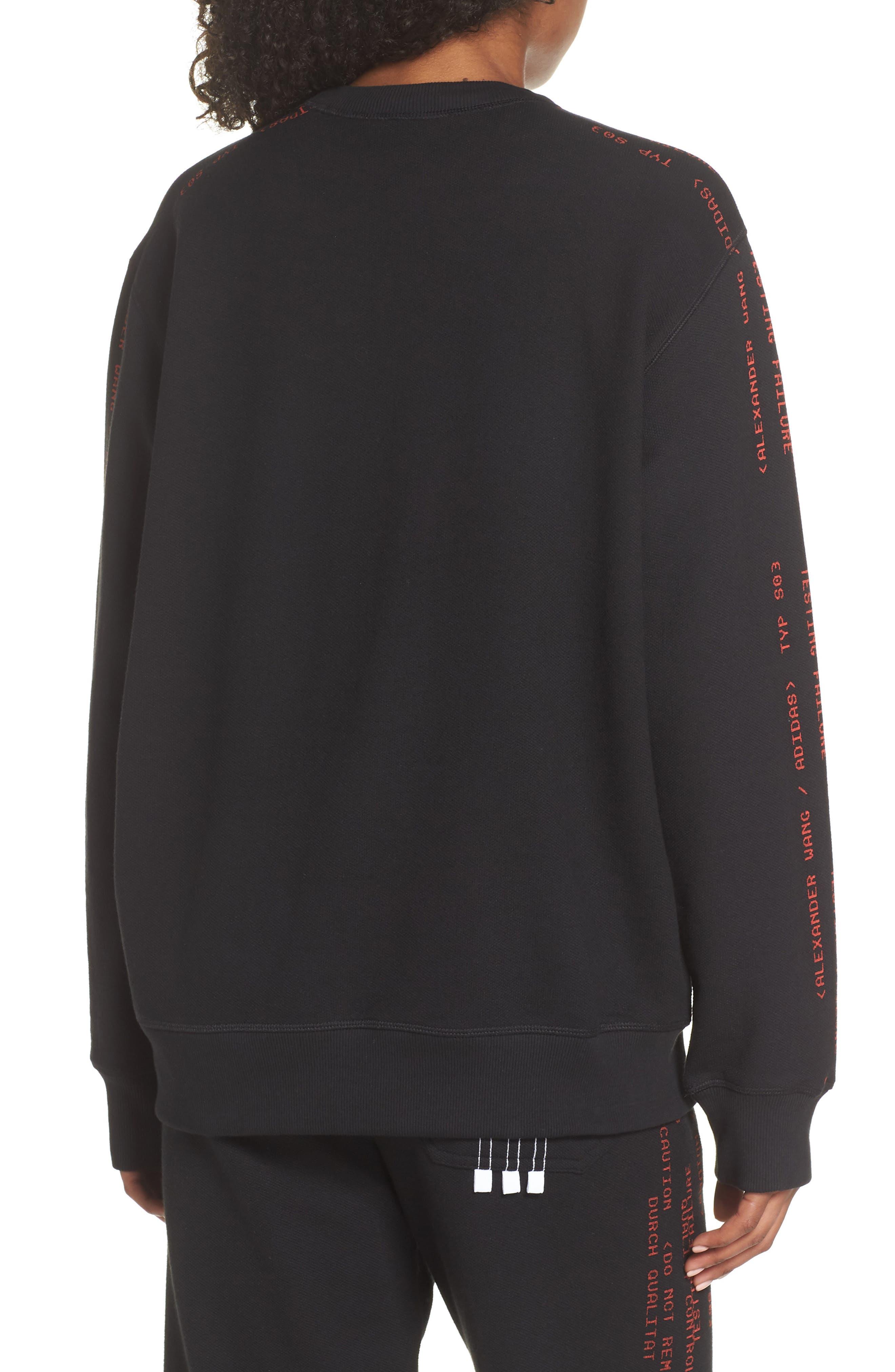 Sweatshirt,                             Alternate thumbnail 2, color,                             Black/ Core Red