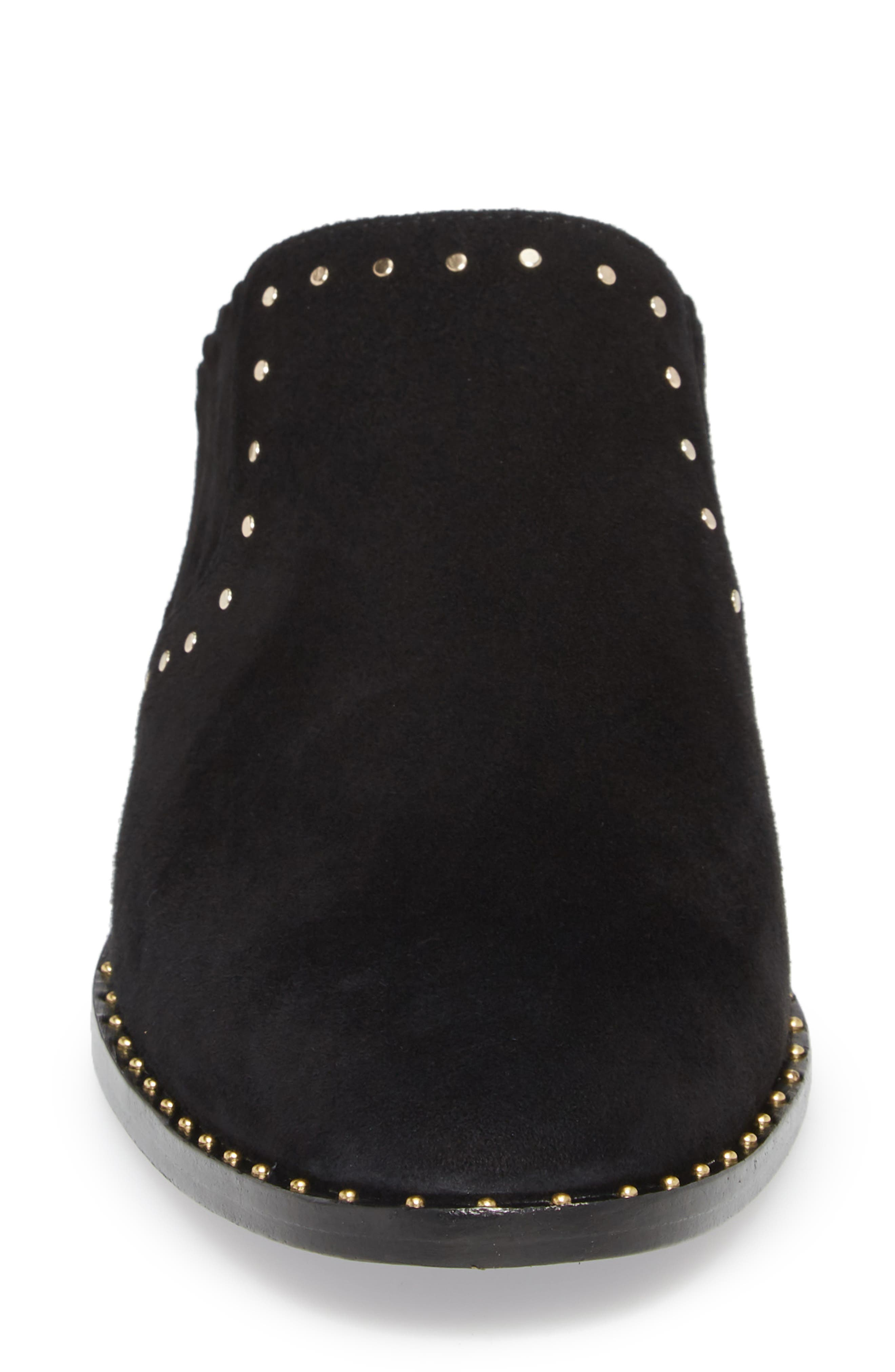Fayla Studded Mule,                             Alternate thumbnail 4, color,                             Nero