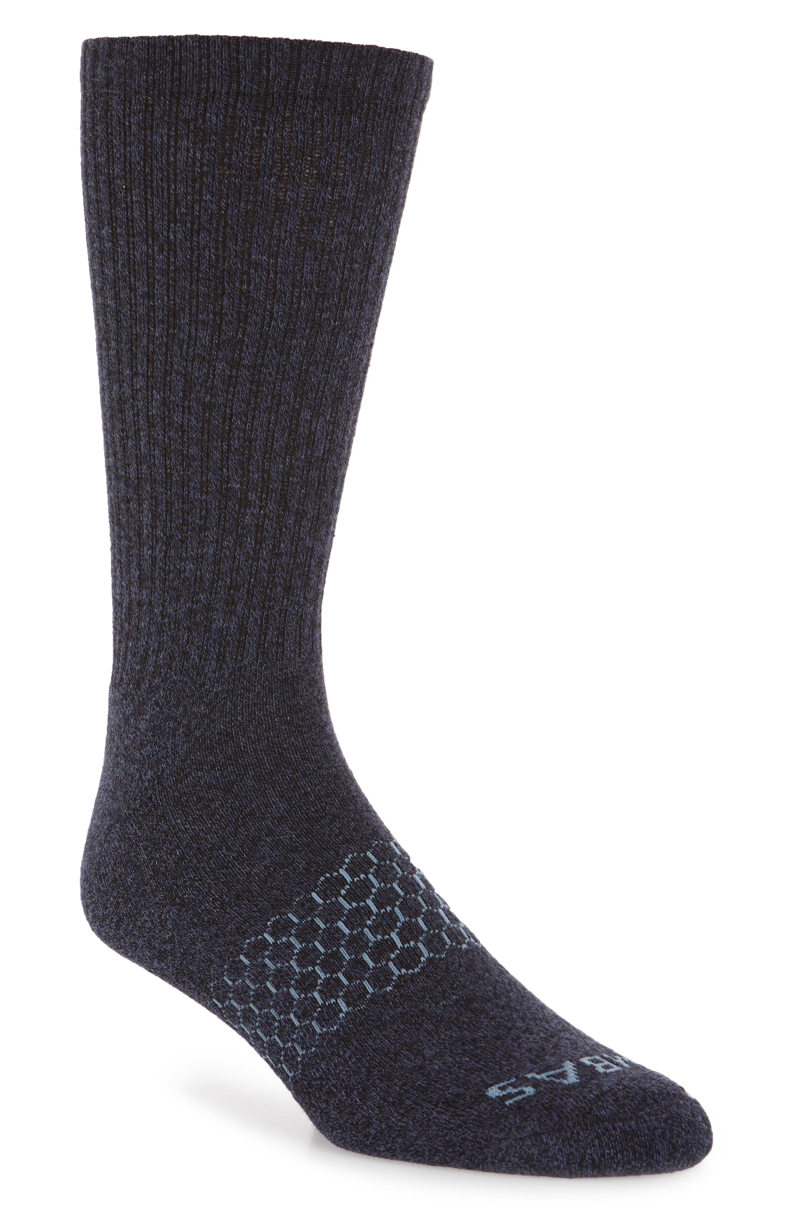 Marl Crew Socks,                             Main thumbnail 1, color,                             Navy