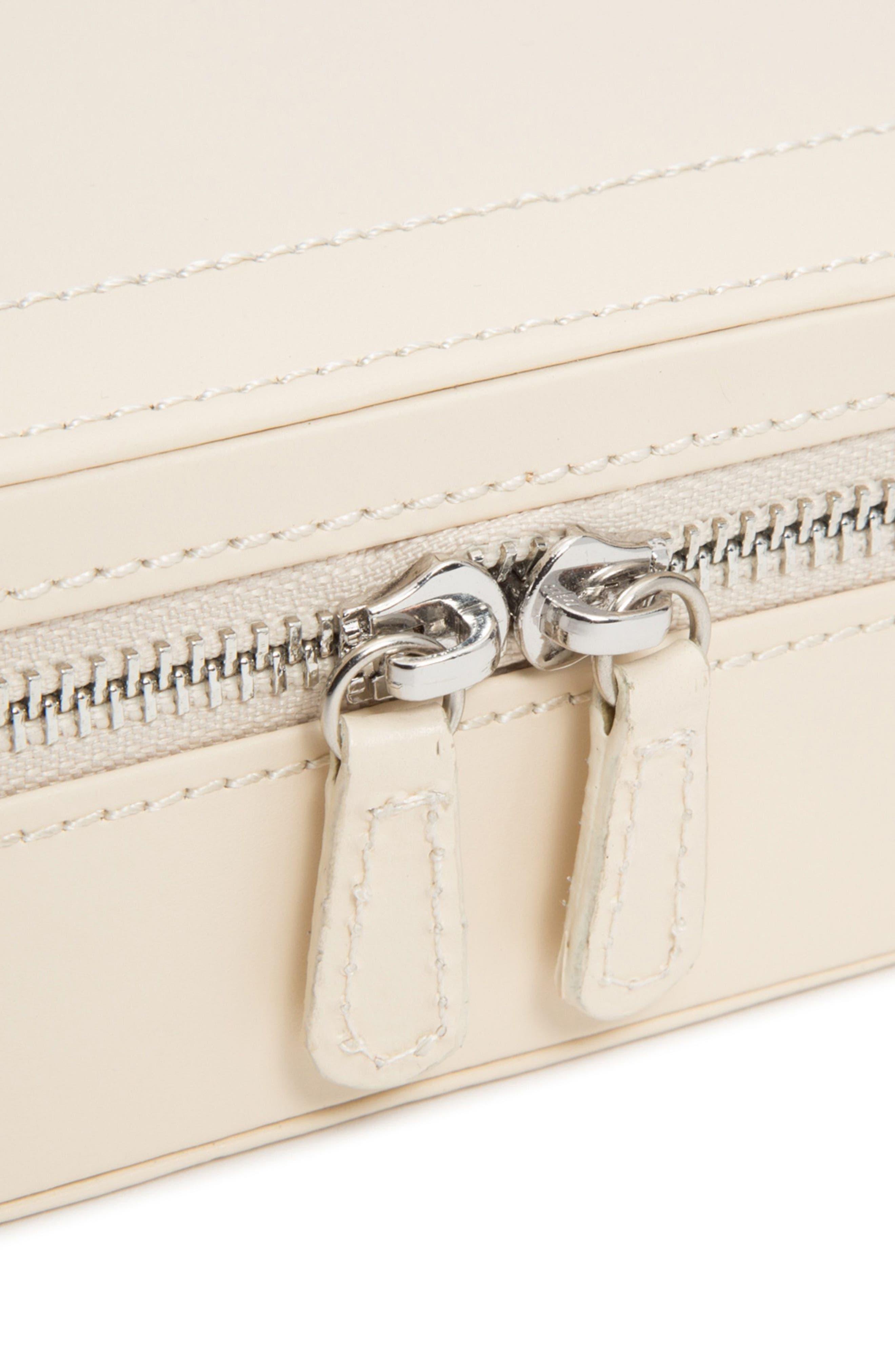 Sophia Rectangle Zip Case,                             Alternate thumbnail 2, color,                             Ivory