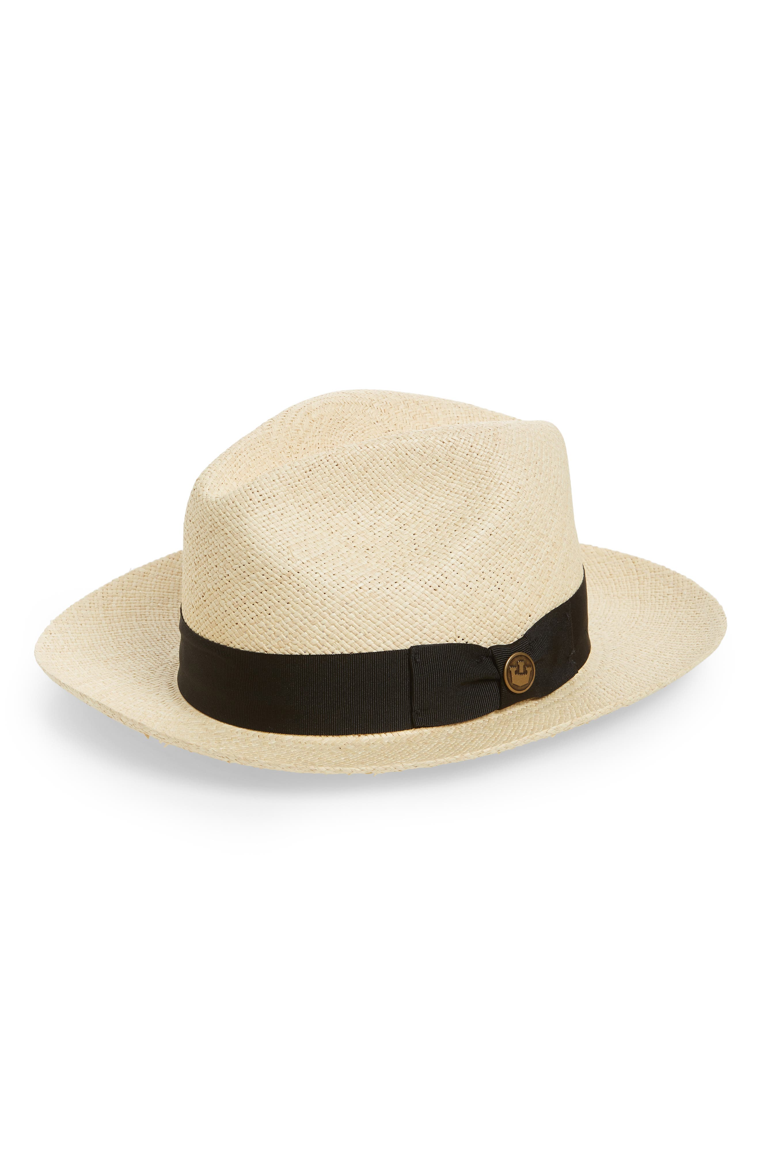 Puerto Lopez Straw Fedora,                         Main,                         color, Natural