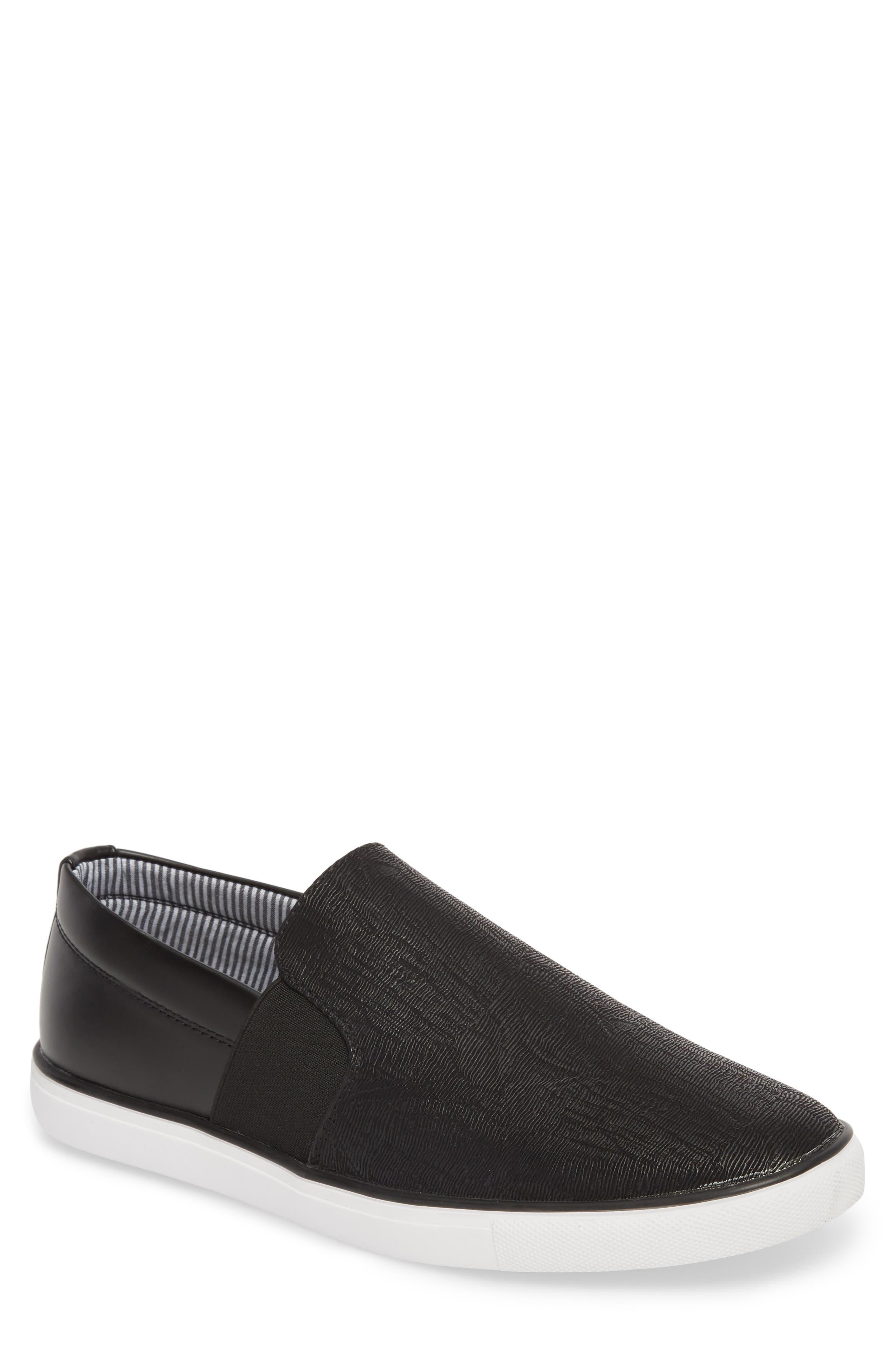 Fish 'N' Chips Dublin Slip-On Sneaker,                             Main thumbnail 1, color,                             Black