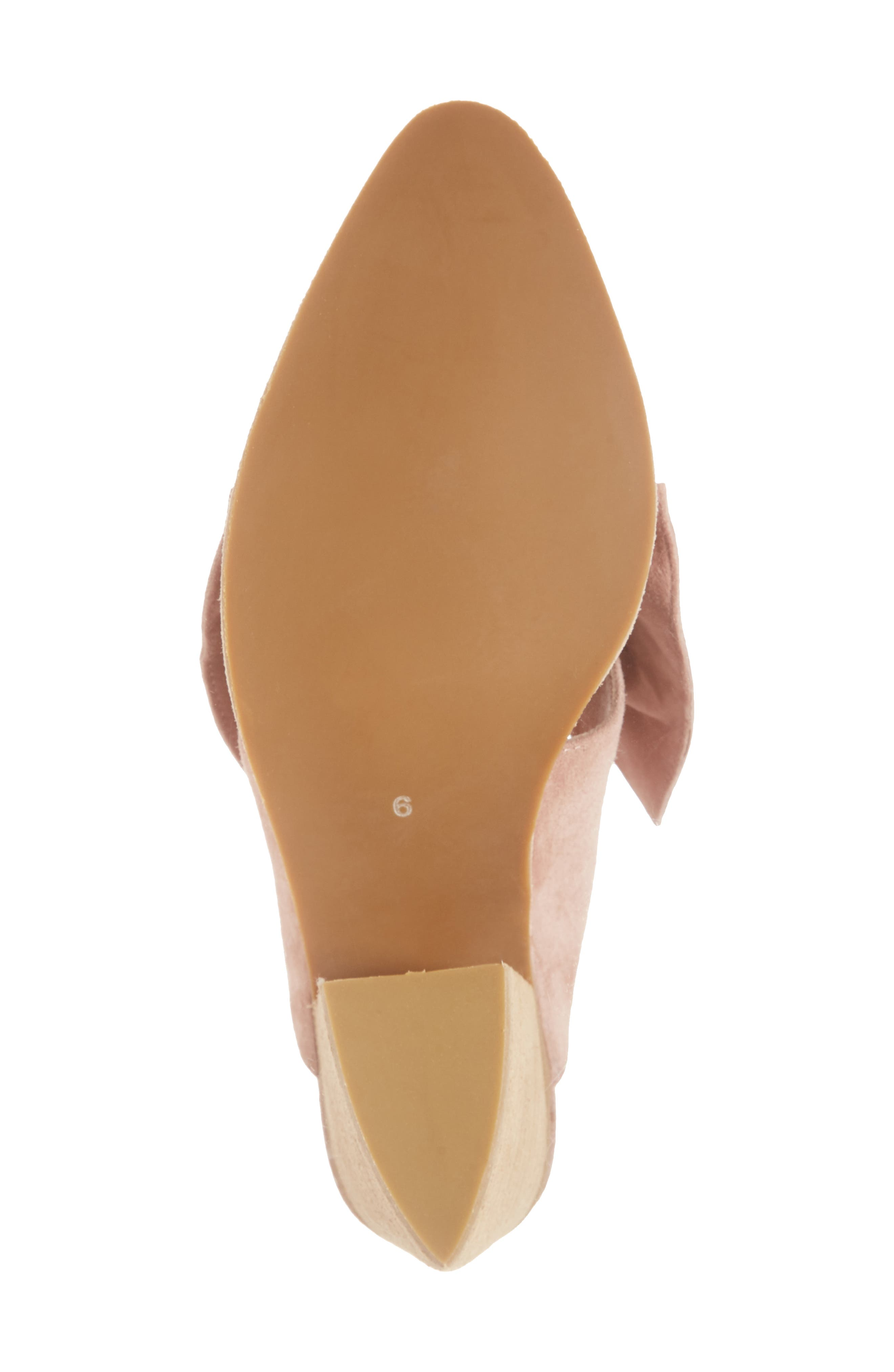 Cyrus Knotted Mary Jane Mule,                             Alternate thumbnail 6, color,                             Blush Suede