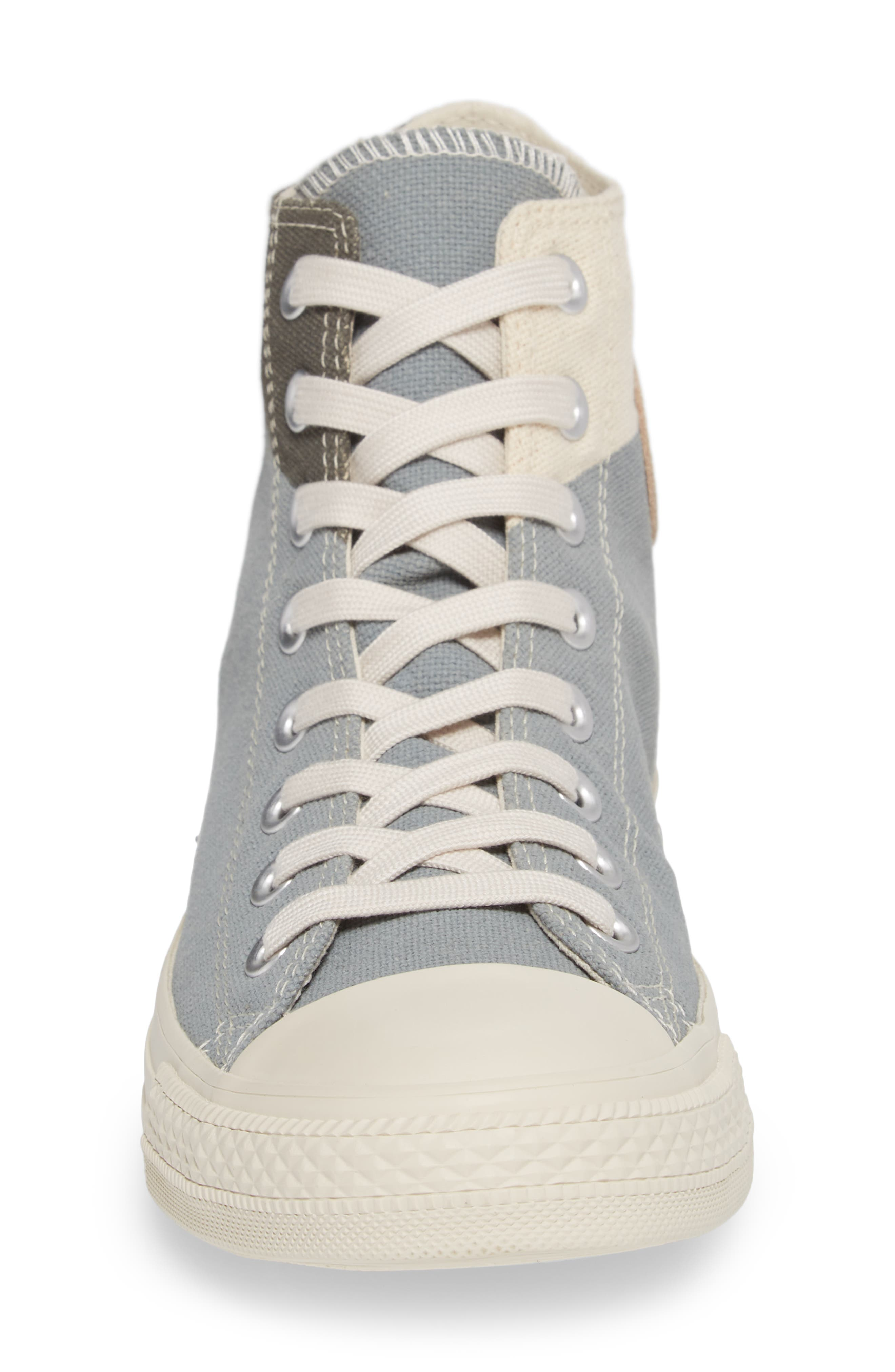 Chuck Taylor<sup>®</sup> All Star<sup>®</sup> Jute Americana High Top Sneaker,                             Alternate thumbnail 4, color,                             Cool Grey