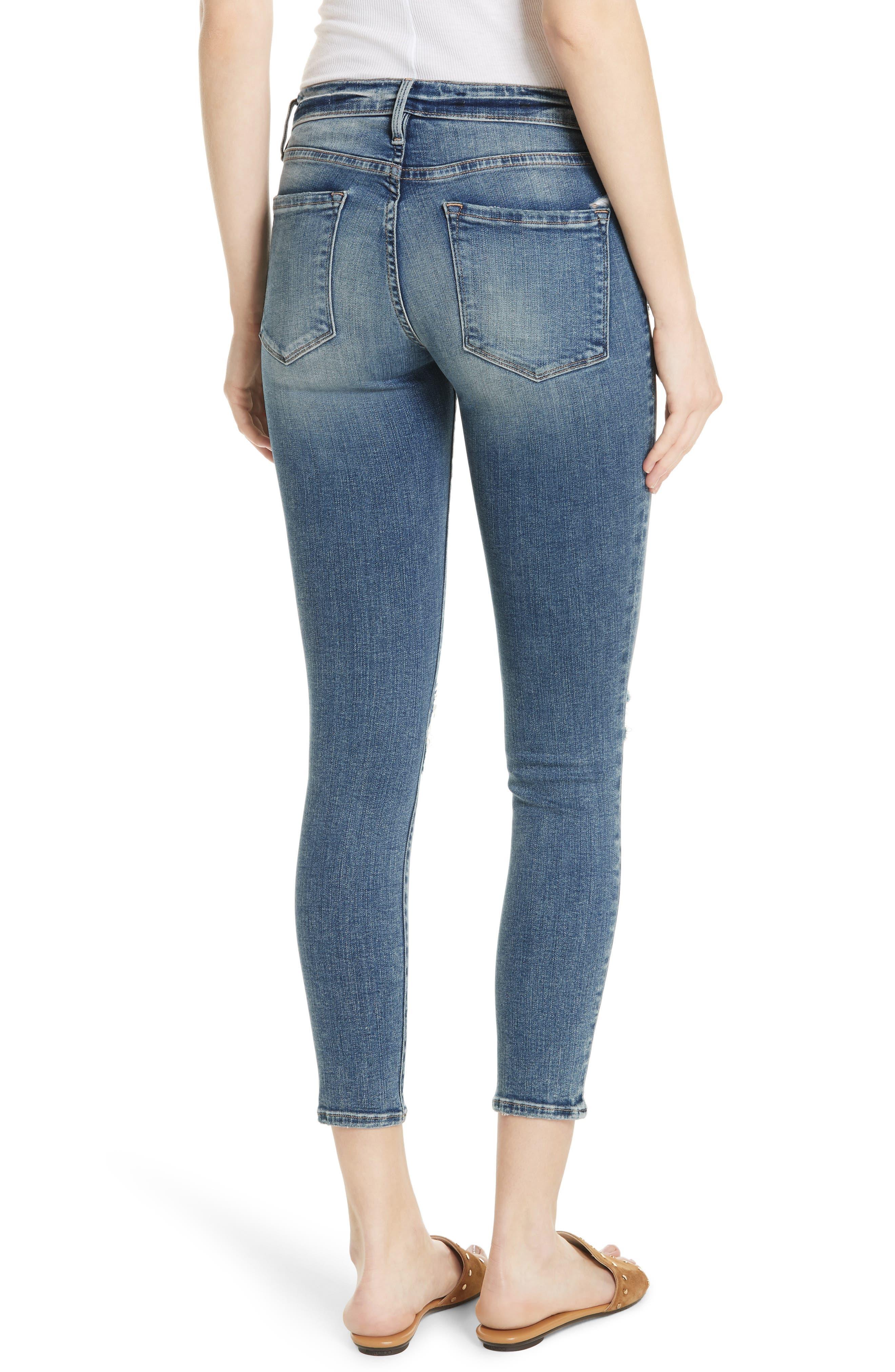 Le Skinny de Jeanne Crop Jeans,                             Alternate thumbnail 2, color,                             Stokes