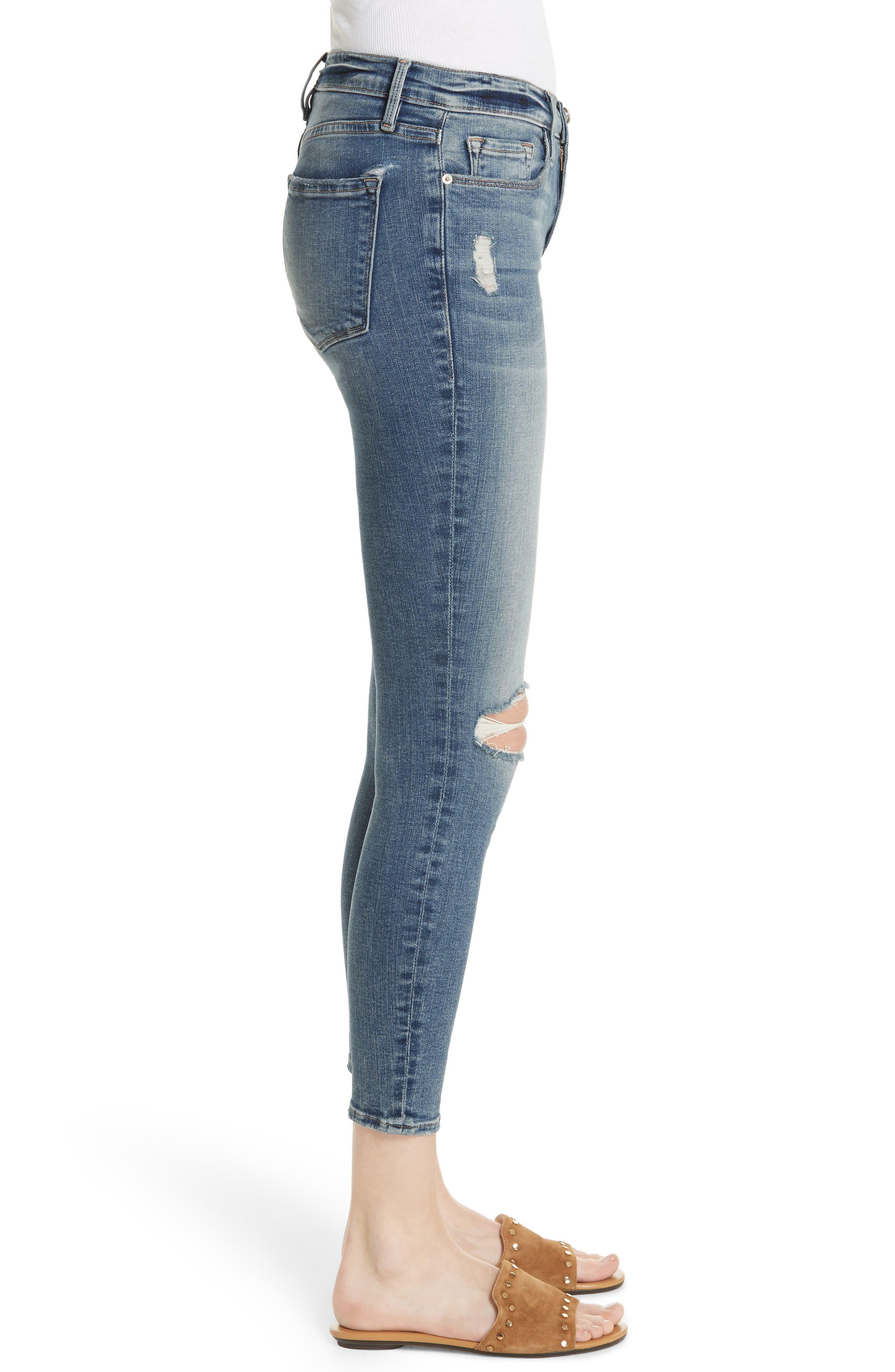Le Skinny de Jeanne Crop Jeans,                             Alternate thumbnail 3, color,                             Stokes