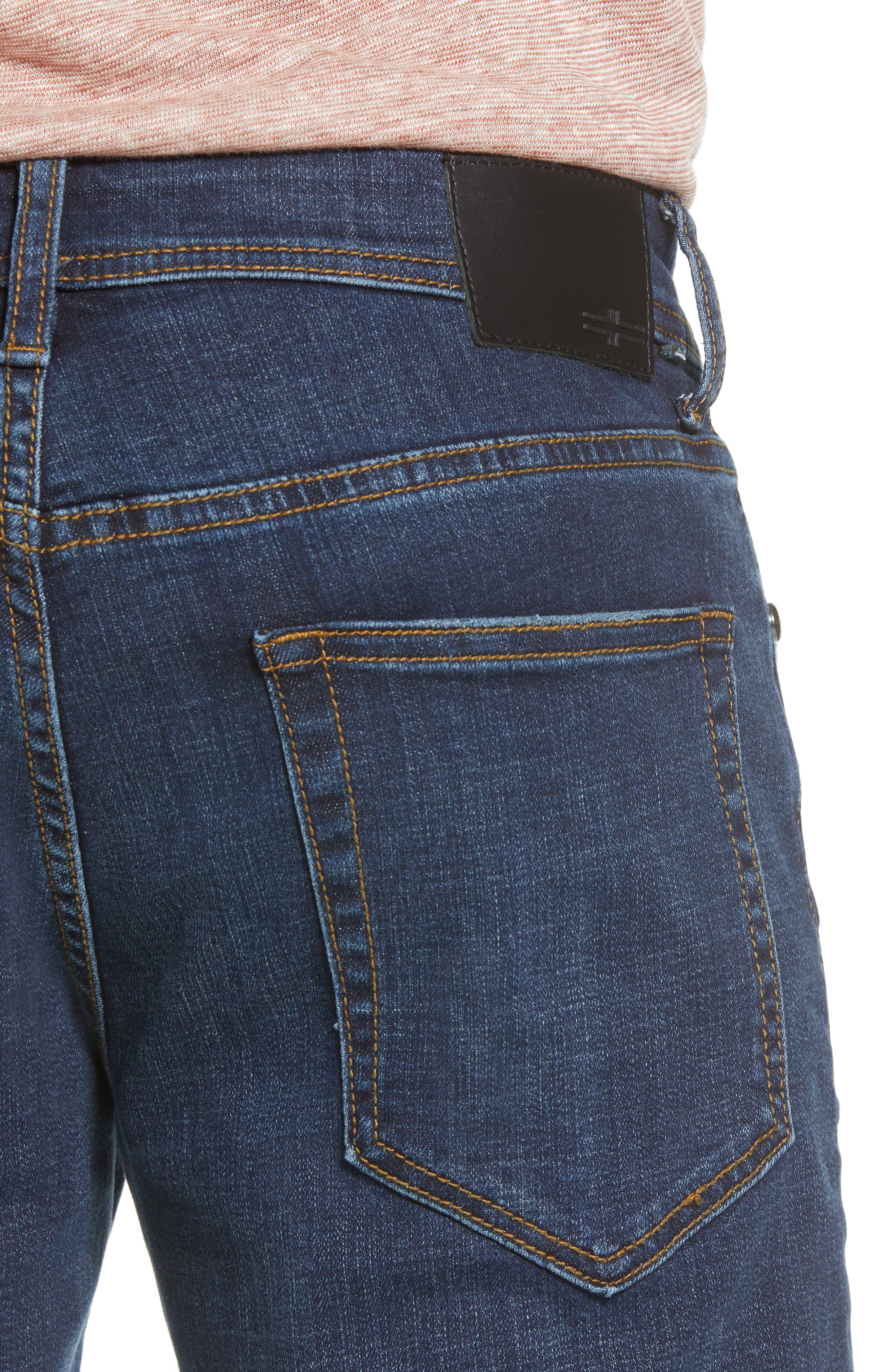 Relaxed Fit Jeans,                             Alternate thumbnail 4, color,                             Navajo Dark