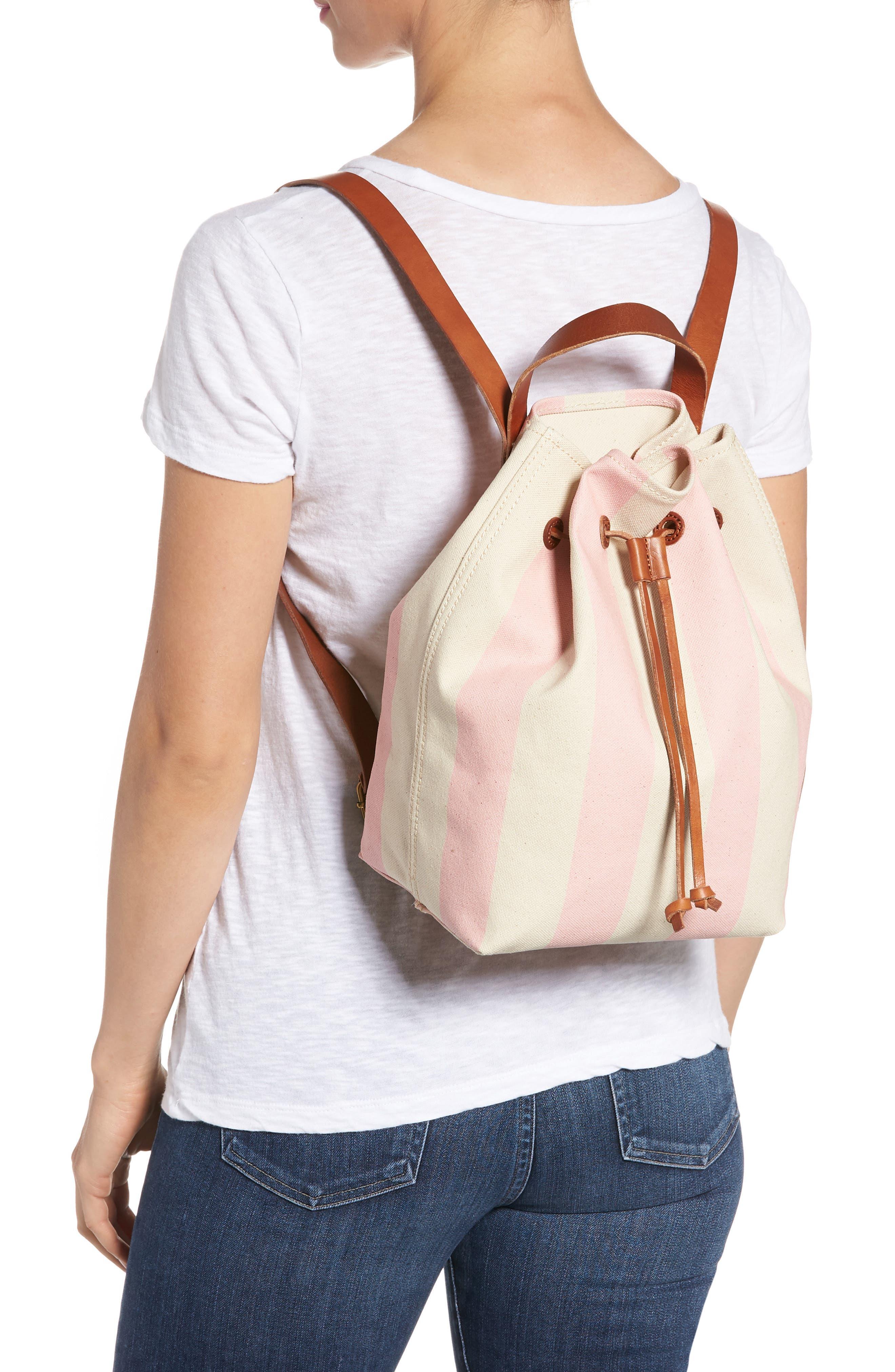 Somerset Canvas Backpack,                             Alternate thumbnail 2, color,                             Petal Pink Stripe