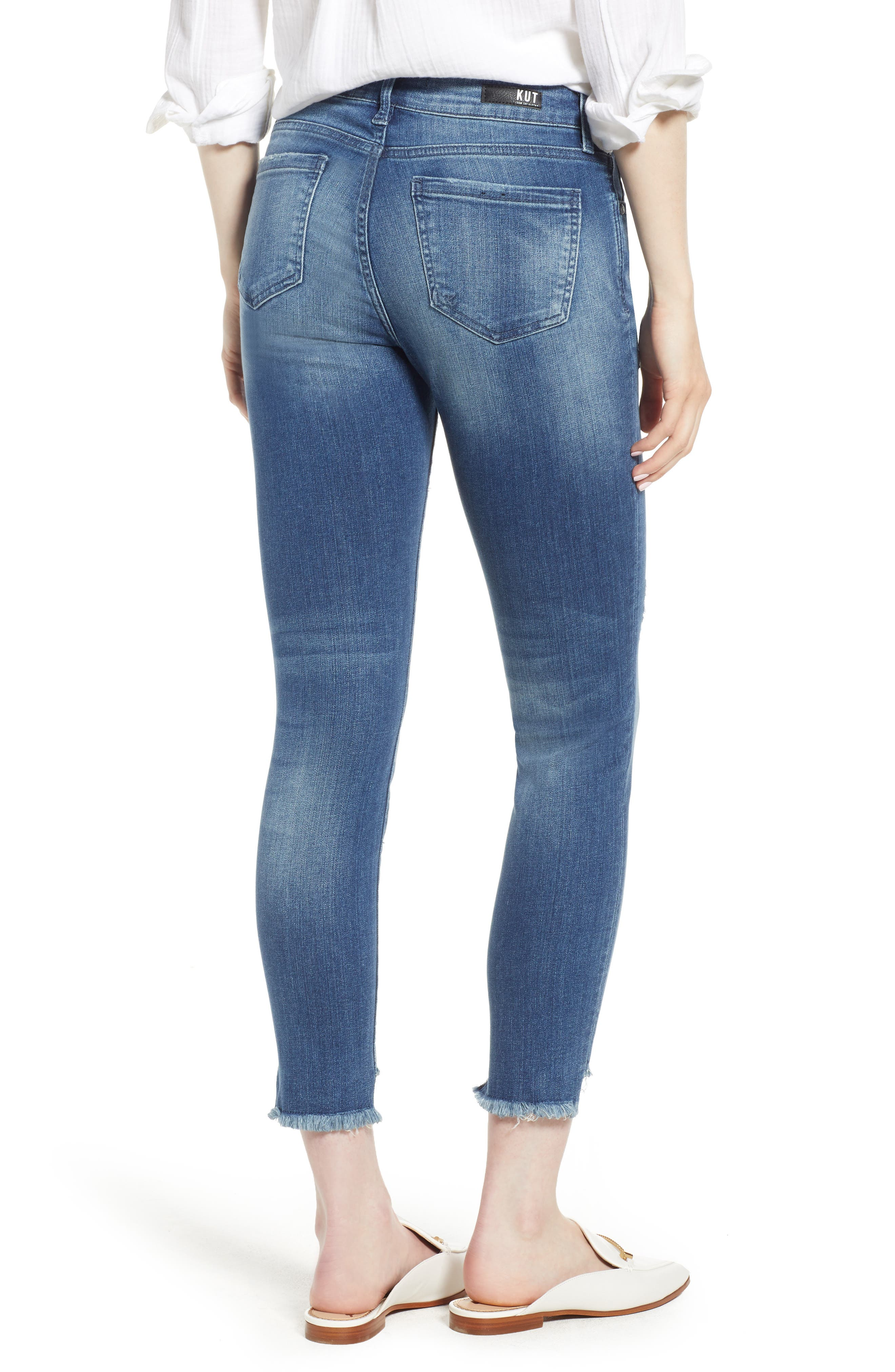 KUT from the Kloth Connie Step Hem Ankle Skinny Jeans,                             Alternate thumbnail 2, color,                             Healthful