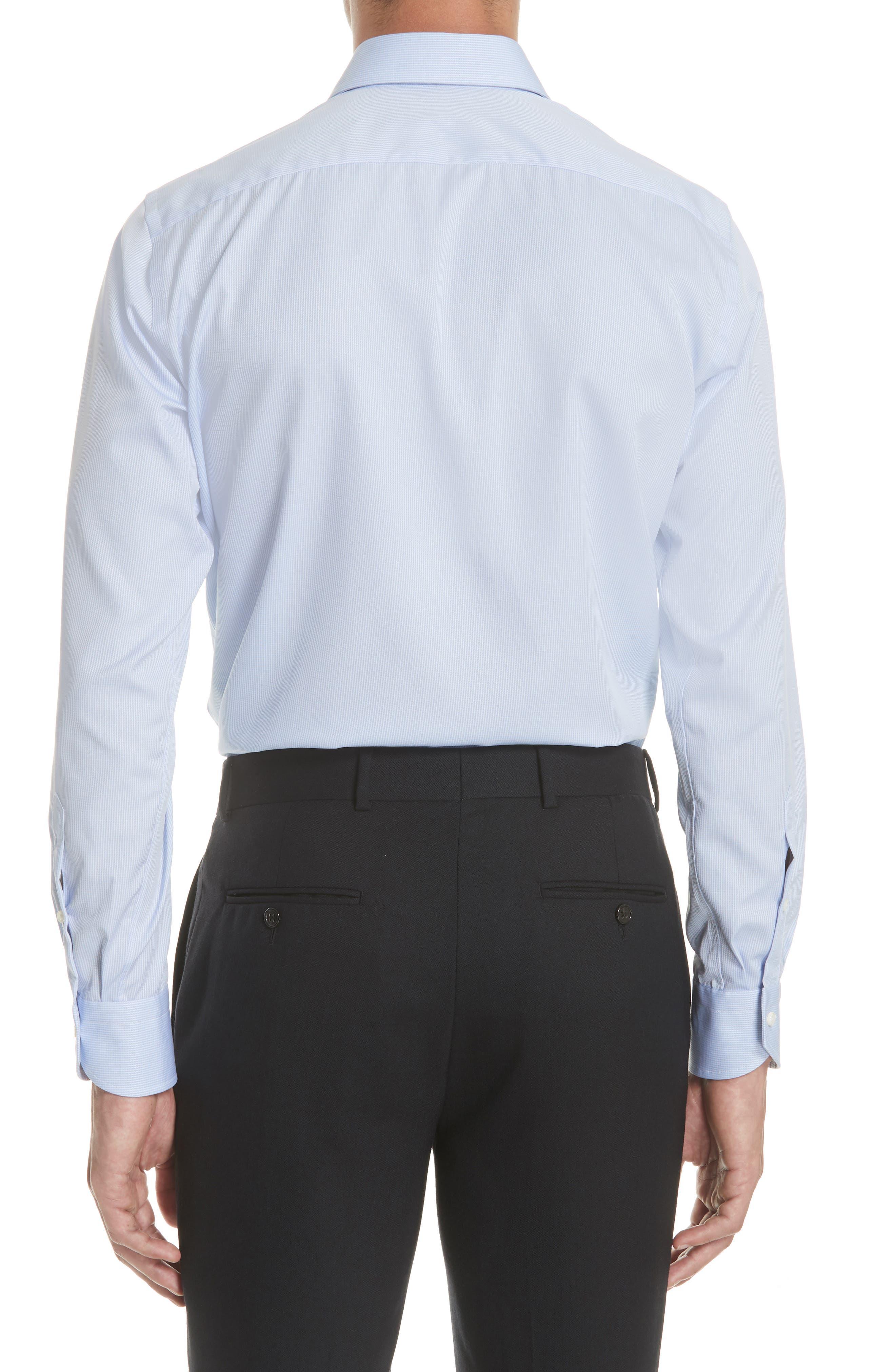 Regular Fit Print Dress Shirt,                             Alternate thumbnail 3, color,                             Blue