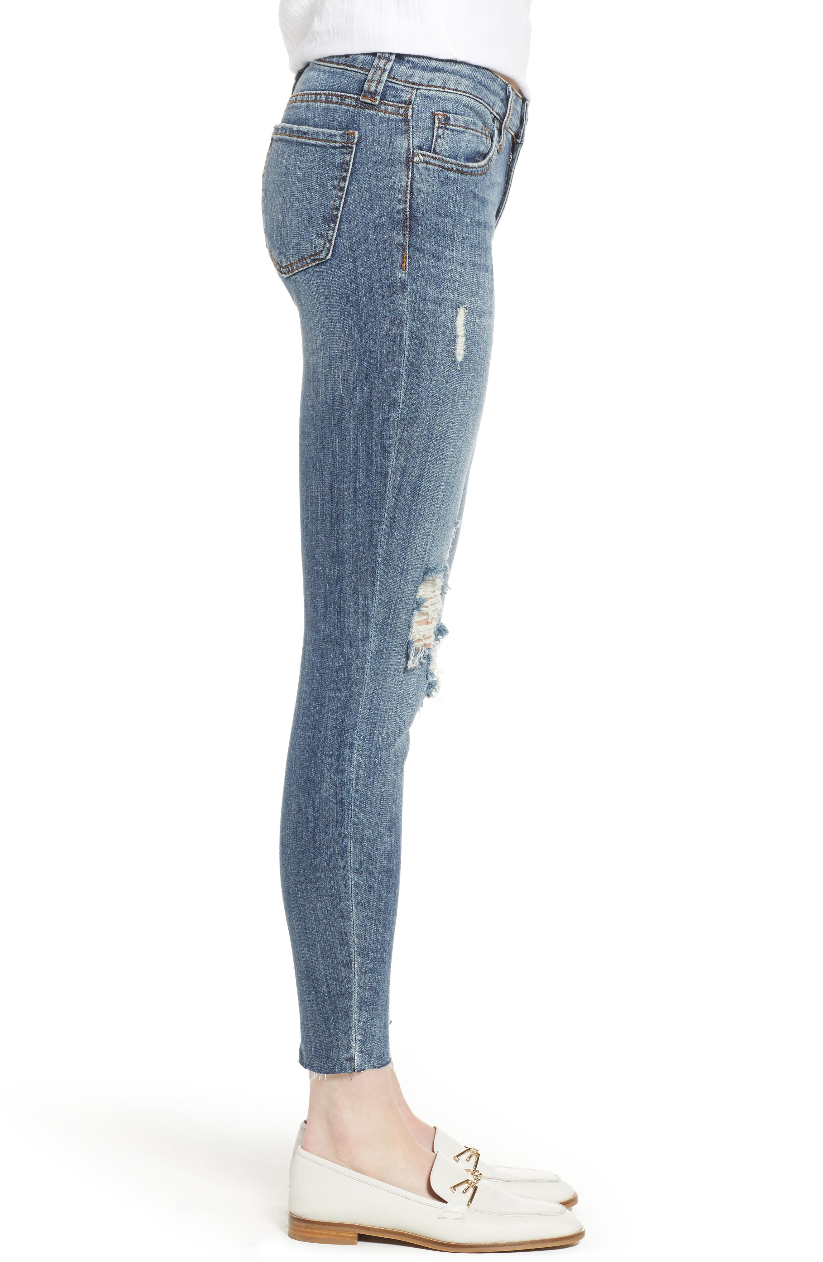 KUT from the Kloth Connie Raw Hem Ankle Jeans,                             Alternate thumbnail 3, color,                             Refinement