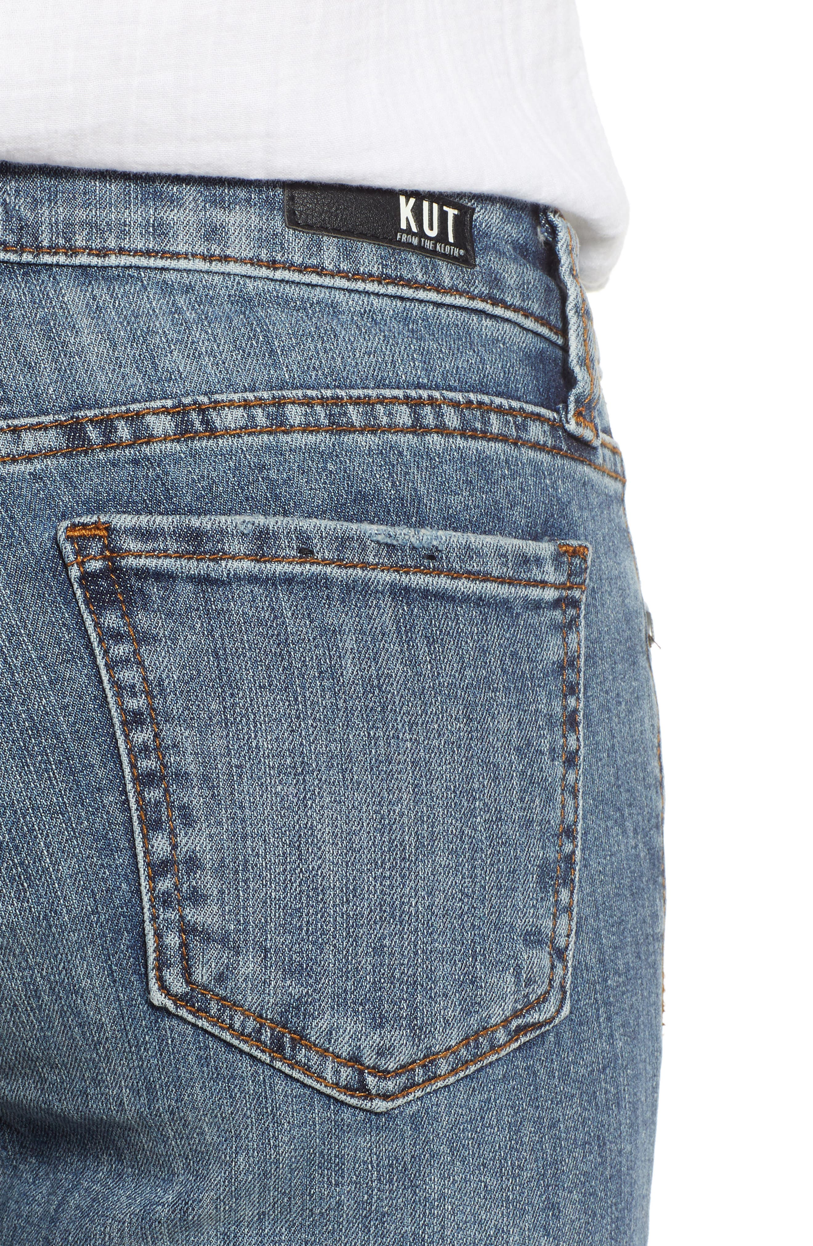 KUT from the Kloth Connie Raw Hem Ankle Jeans,                             Alternate thumbnail 4, color,                             Refinement