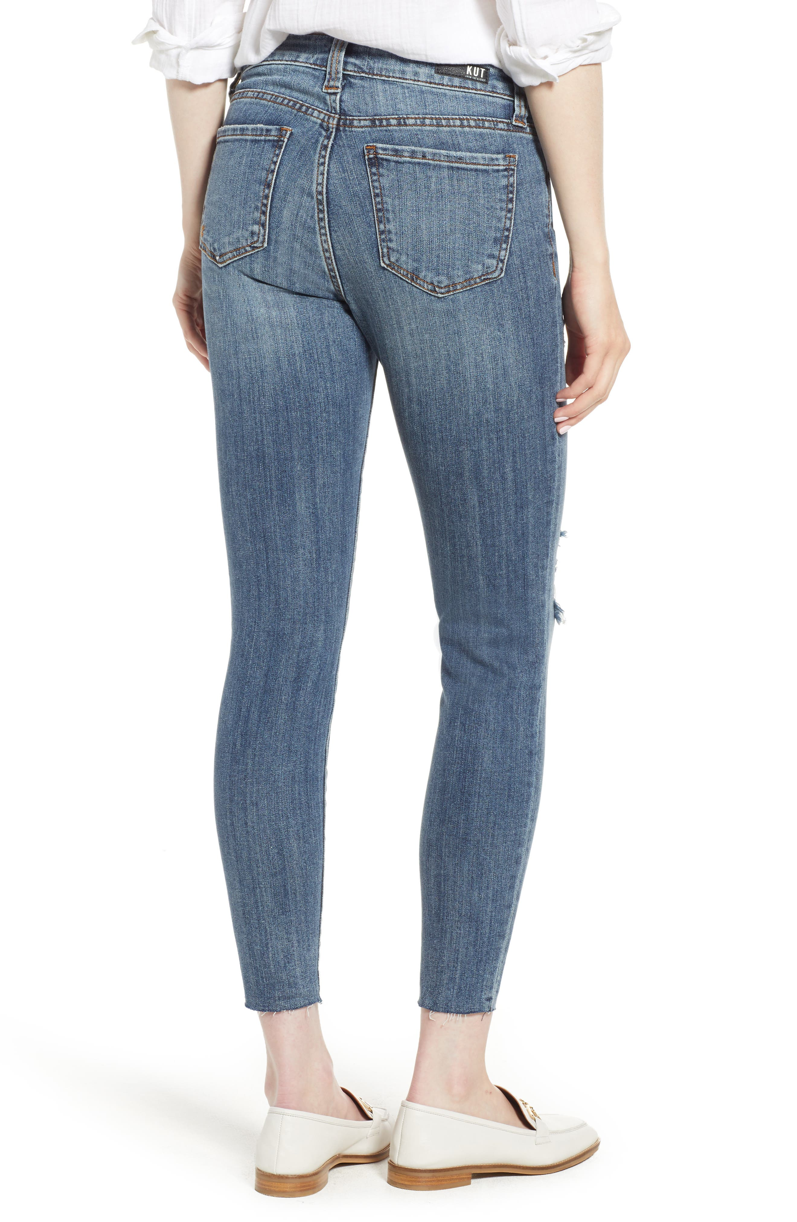 KUT from the Kloth Connie Raw Hem Ankle Jeans,                             Alternate thumbnail 2, color,                             Refinement