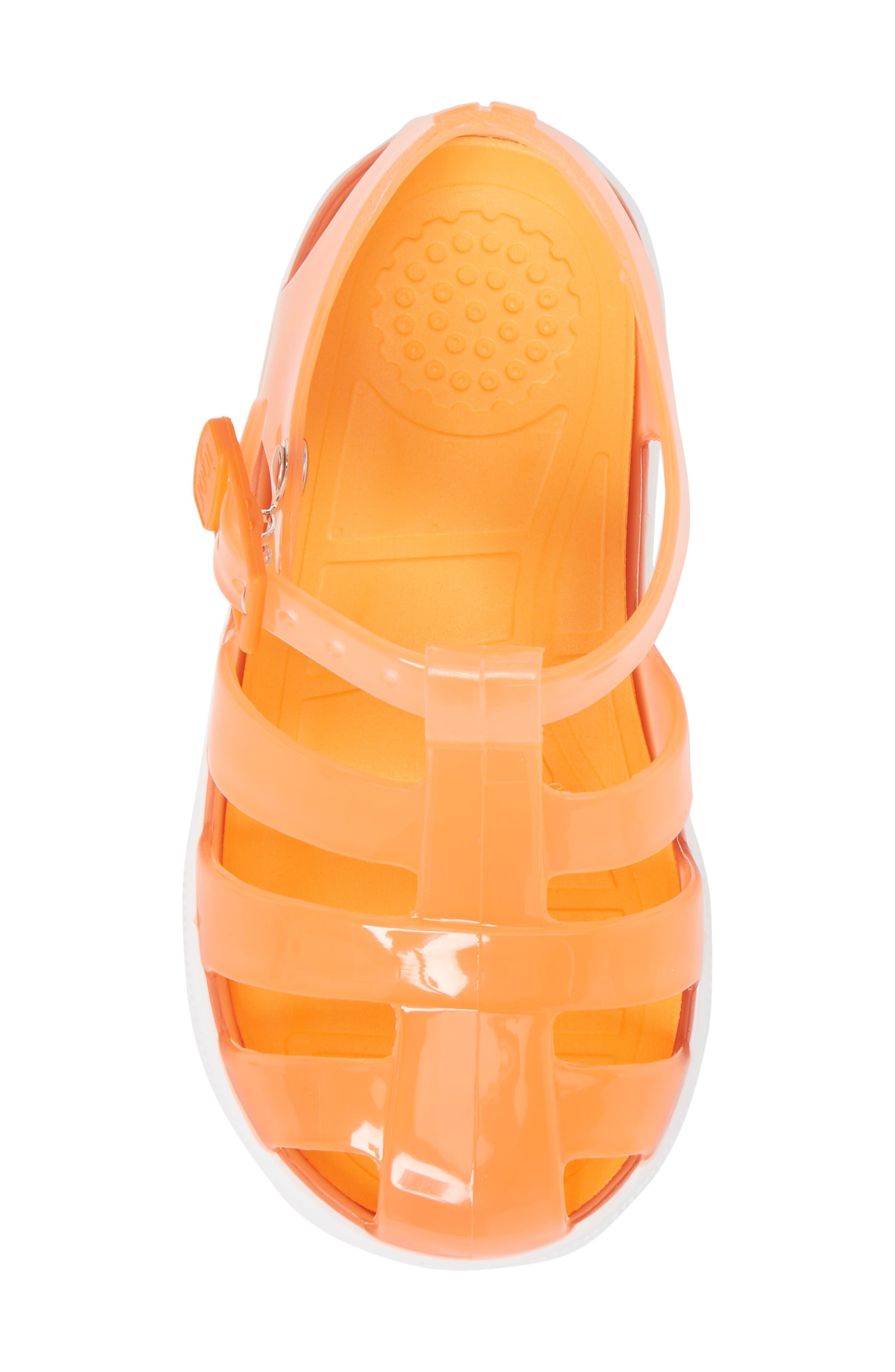 Tenis Fisherman Jelly Sandal,                             Alternate thumbnail 5, color,                             Crystal Neon Orange