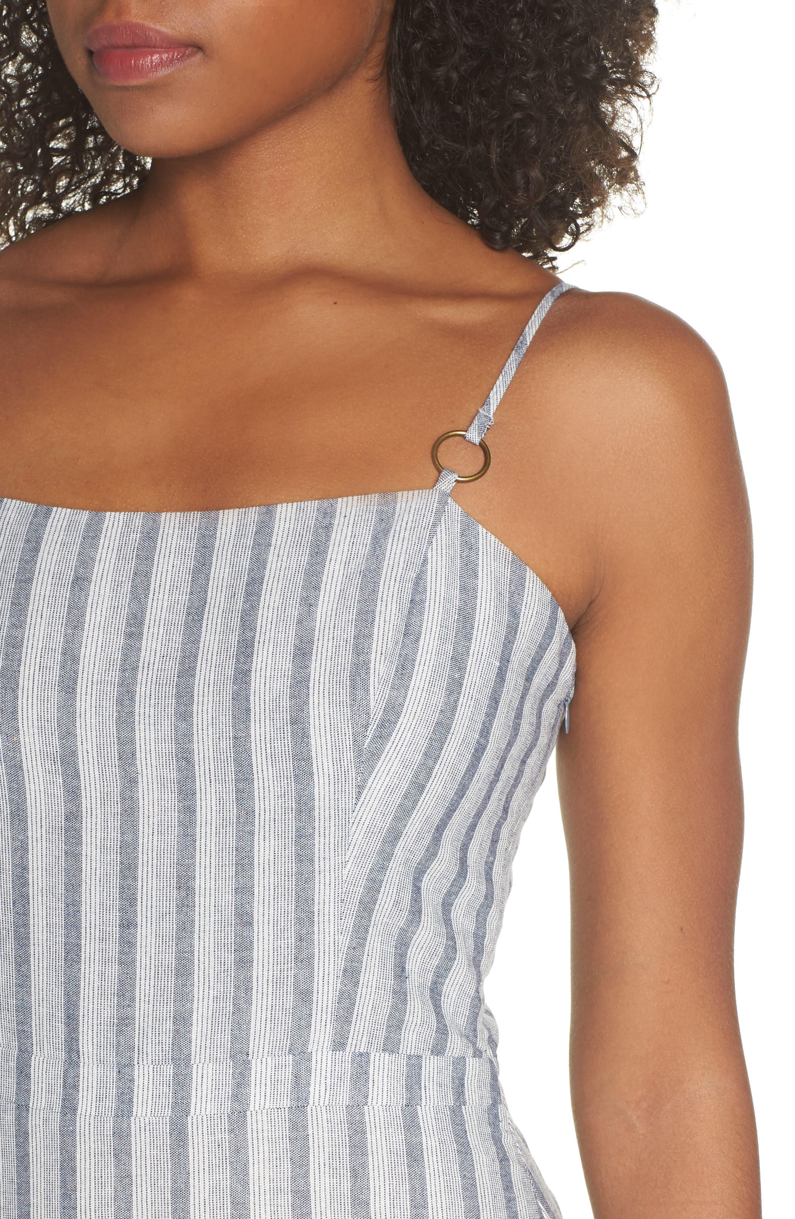 Krisa Stripe Maxi Dress,                             Alternate thumbnail 4, color,                             Multi