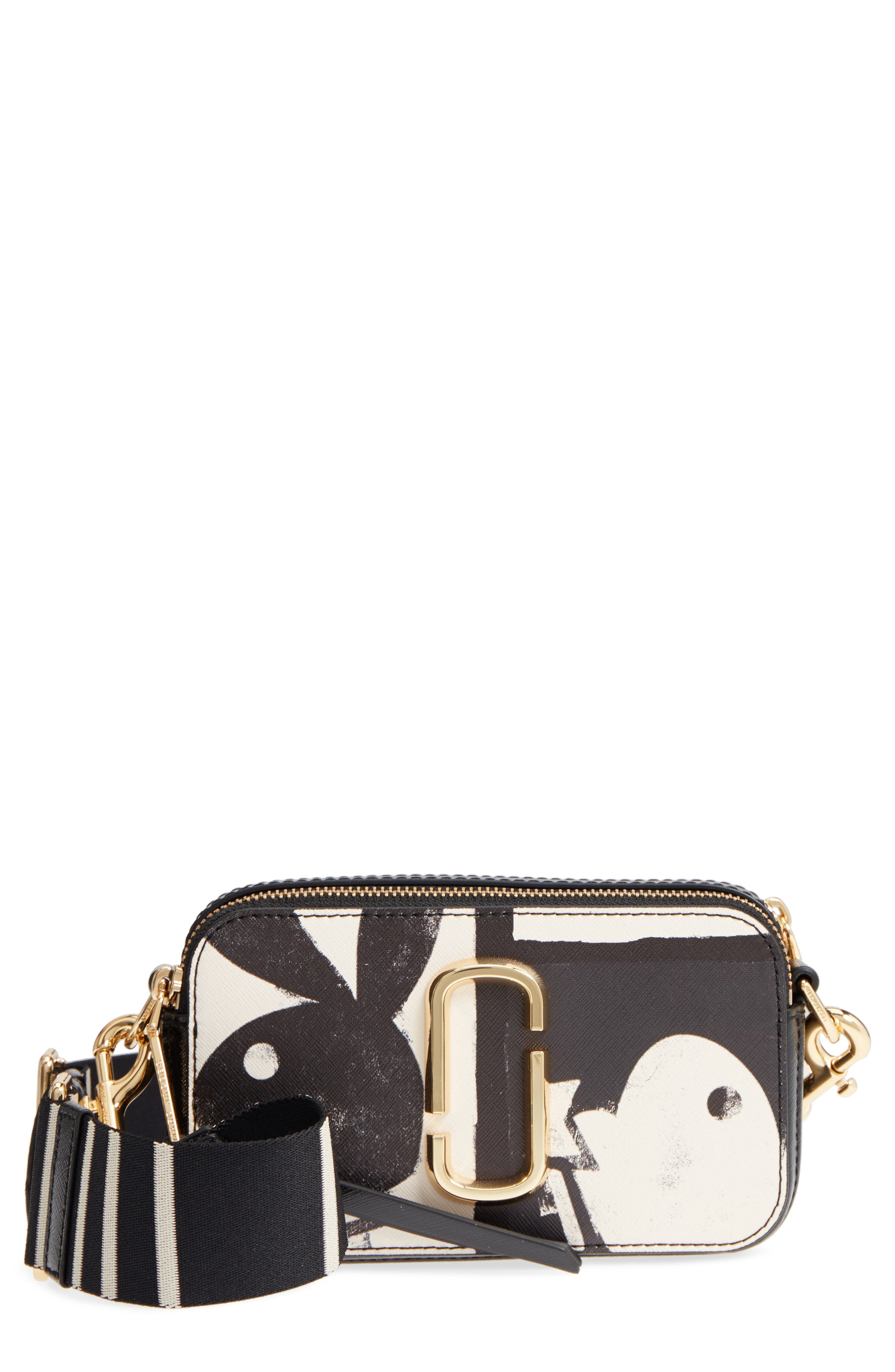 MARC JACOBS Snapshot Playboy® Leather Crossbody Bag