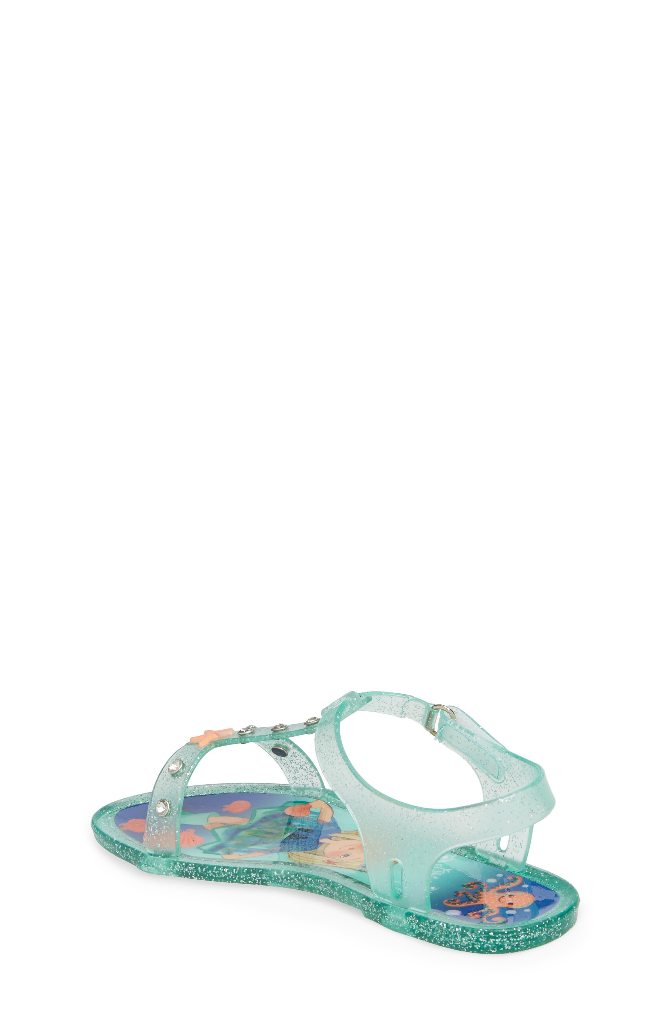 Camille Glitter Jelly Sandal,                             Alternate thumbnail 2, color,                             Beach Glass