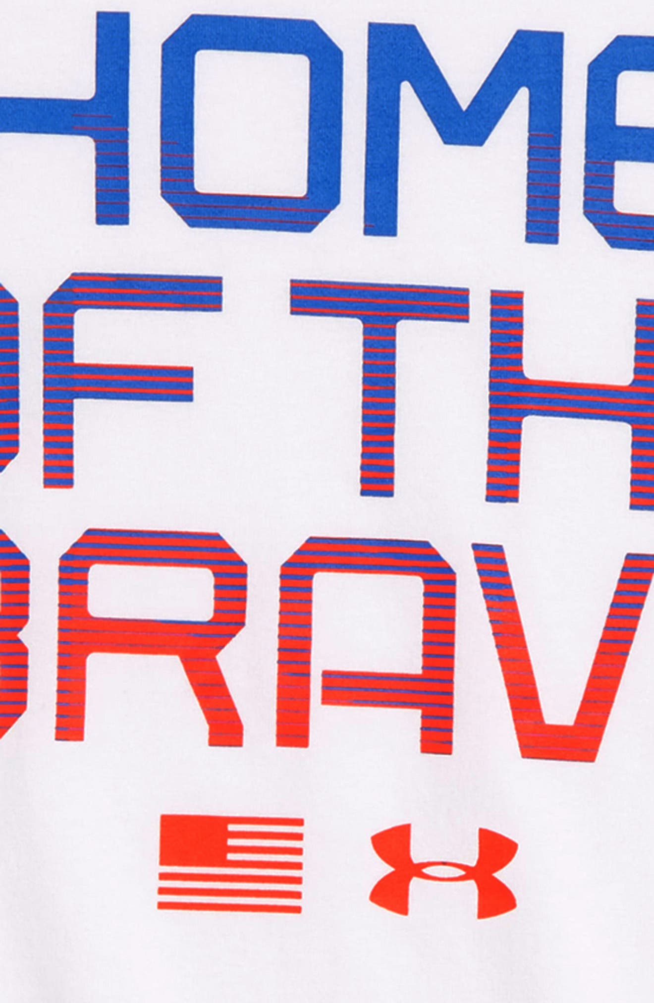 Home of the Brave Graphic T-Shirt,                             Alternate thumbnail 2, color,                             White/ Neon Coral