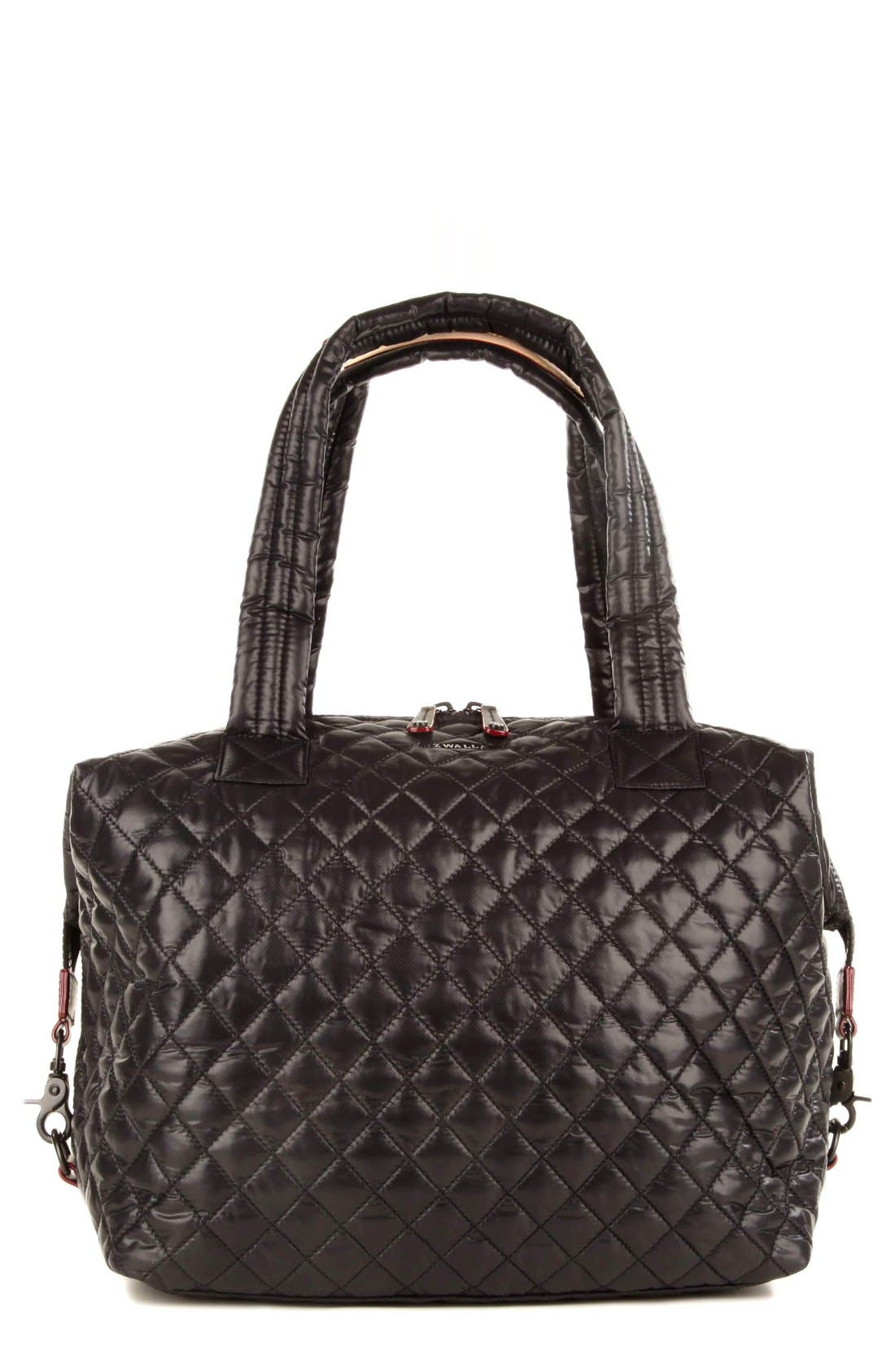 MZ Wallace 'Large Sutton' Quilted Oxford Nylon Shoulder Tote