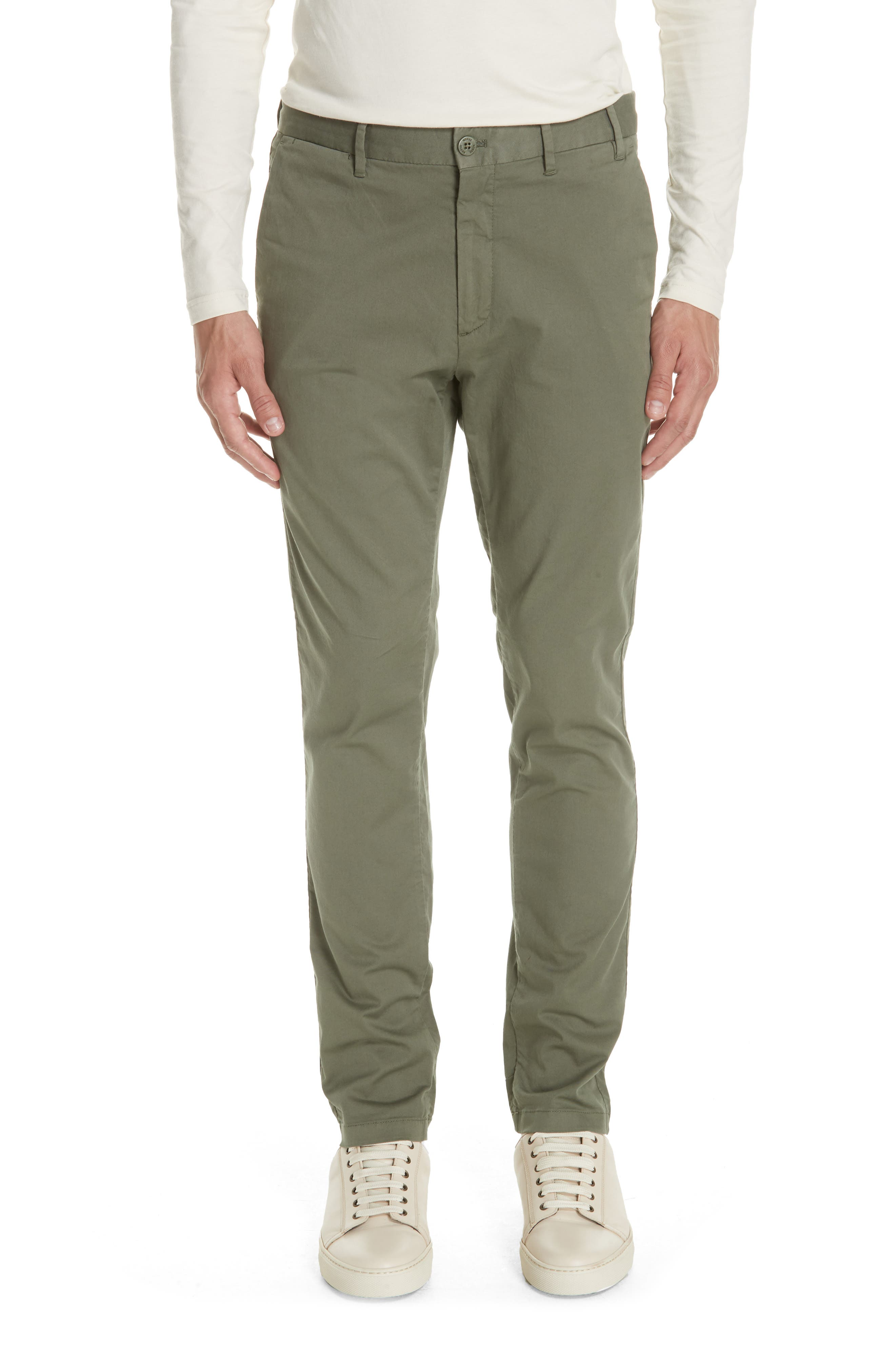Aros Slim Fit Stretch Twill Pants,                             Main thumbnail 1, color,                             Dried Olive