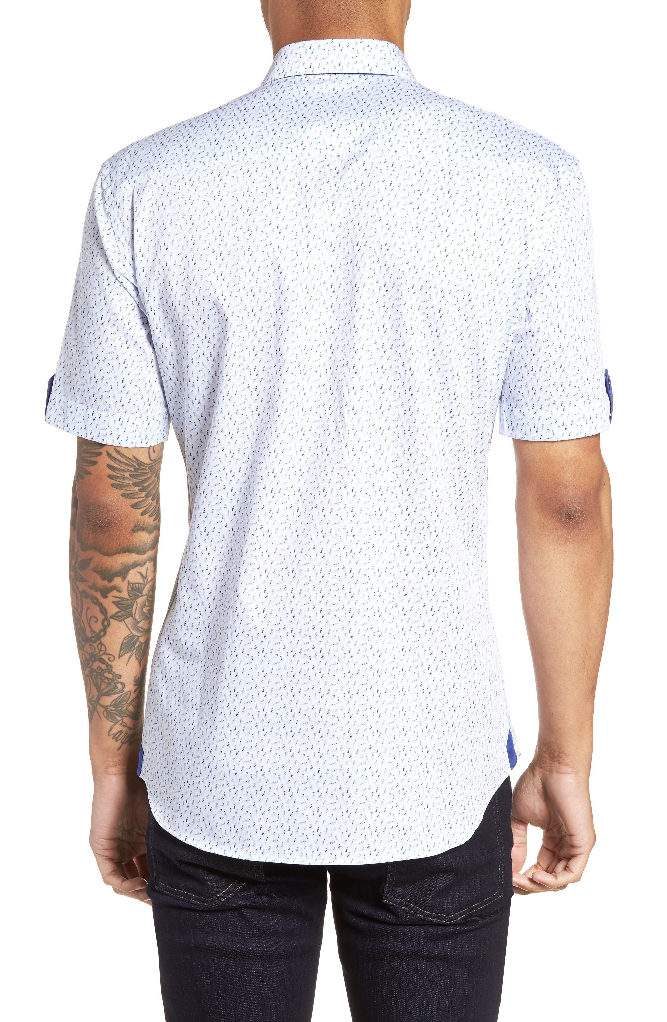 Fresh Swimsuit Print Sport Shirt,                             Alternate thumbnail 3, color,                             Blue