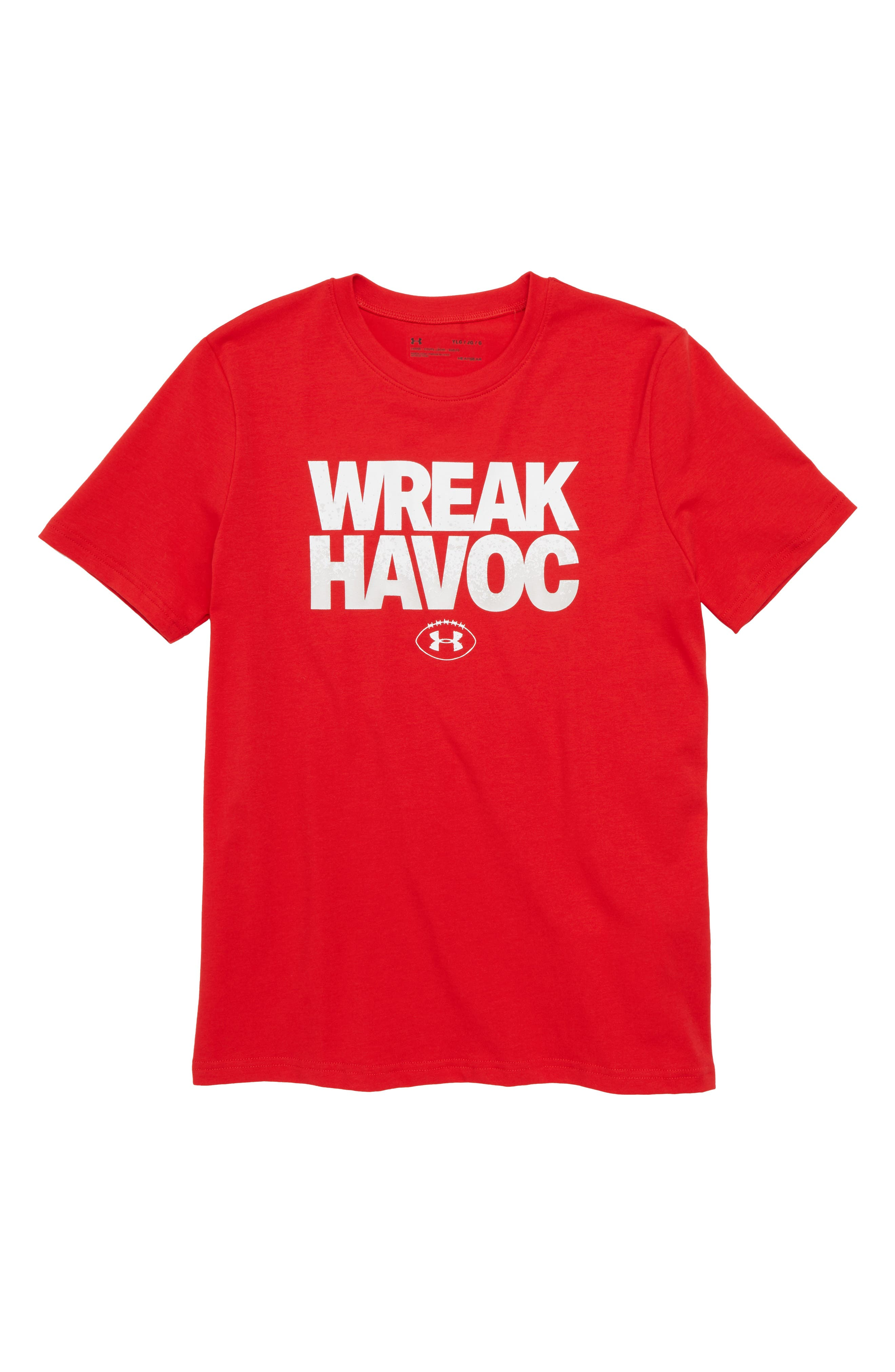 Wreak Havoc Graphic T-Shirt,                         Main,                         color, Red/ White