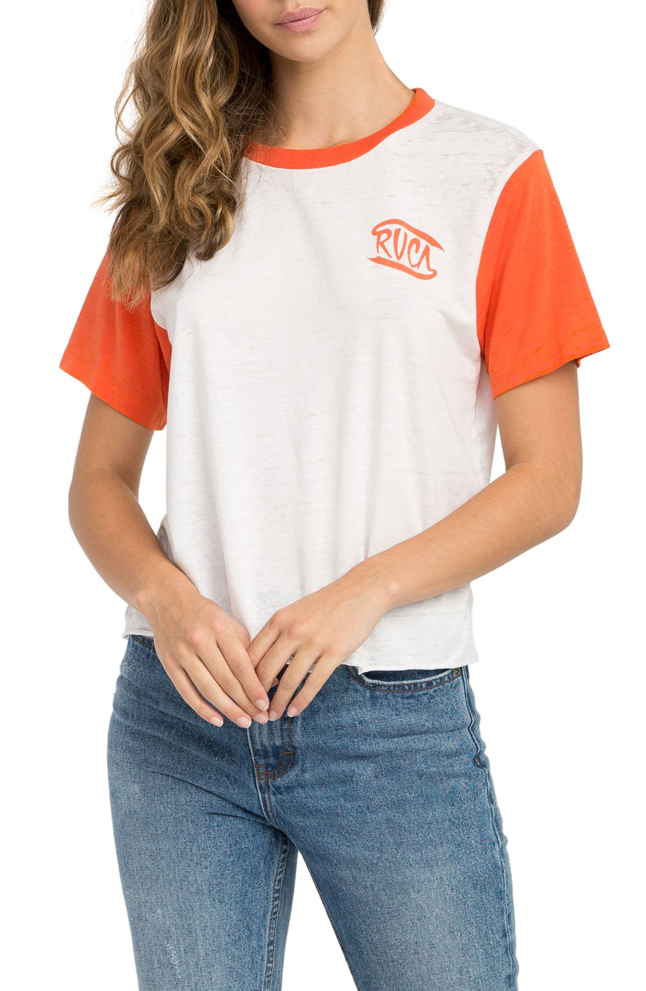 Clutch Graphic Tee,                             Main thumbnail 1, color,                             Chili