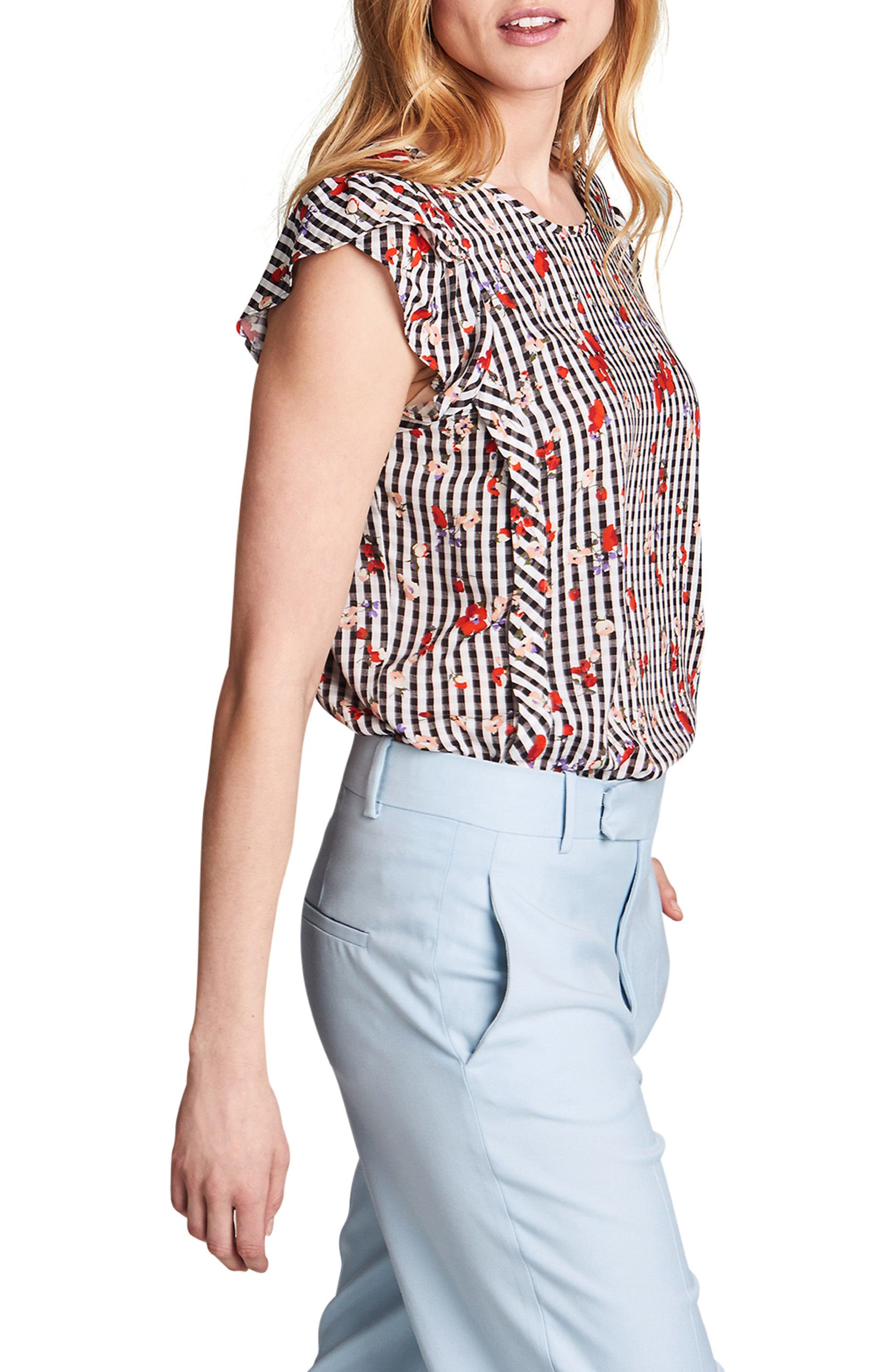Audrey Nursing Top,                             Alternate thumbnail 3, color,                             Floral Print