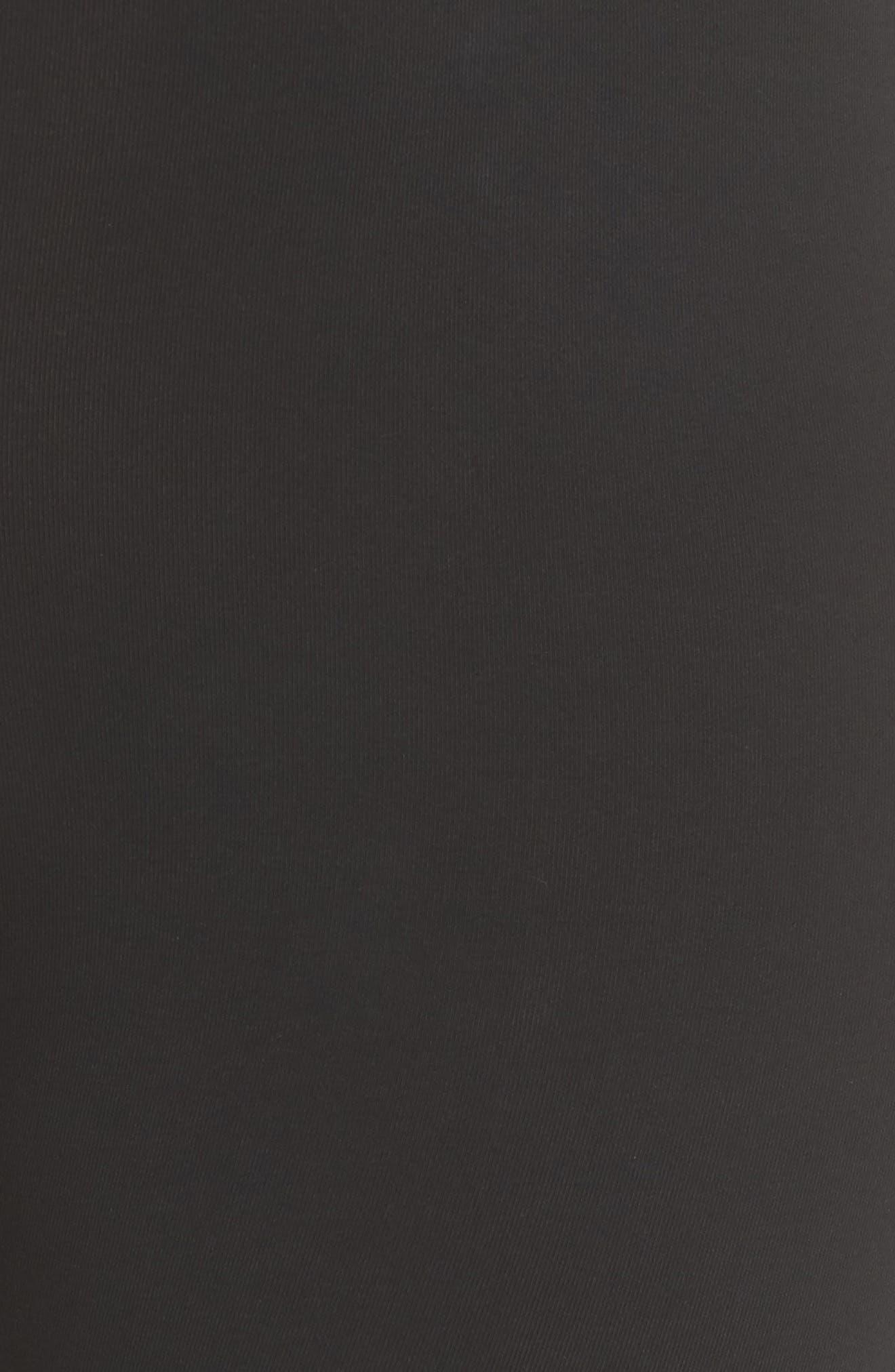 Sportswear Metallic Logo Leggings,                             Alternate thumbnail 6, color,                             Black/ Black