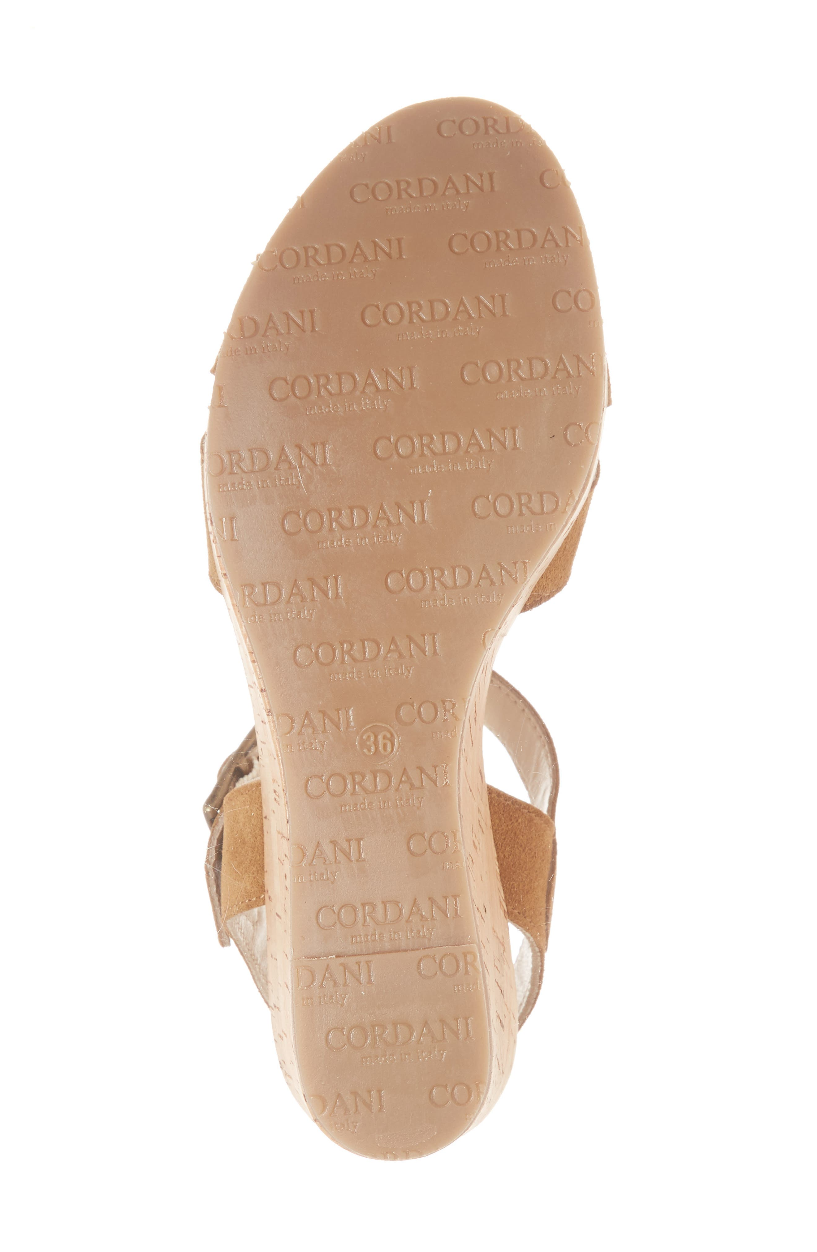 Candy Wedge Sandal,                             Alternate thumbnail 6, color,                             Cola Suede