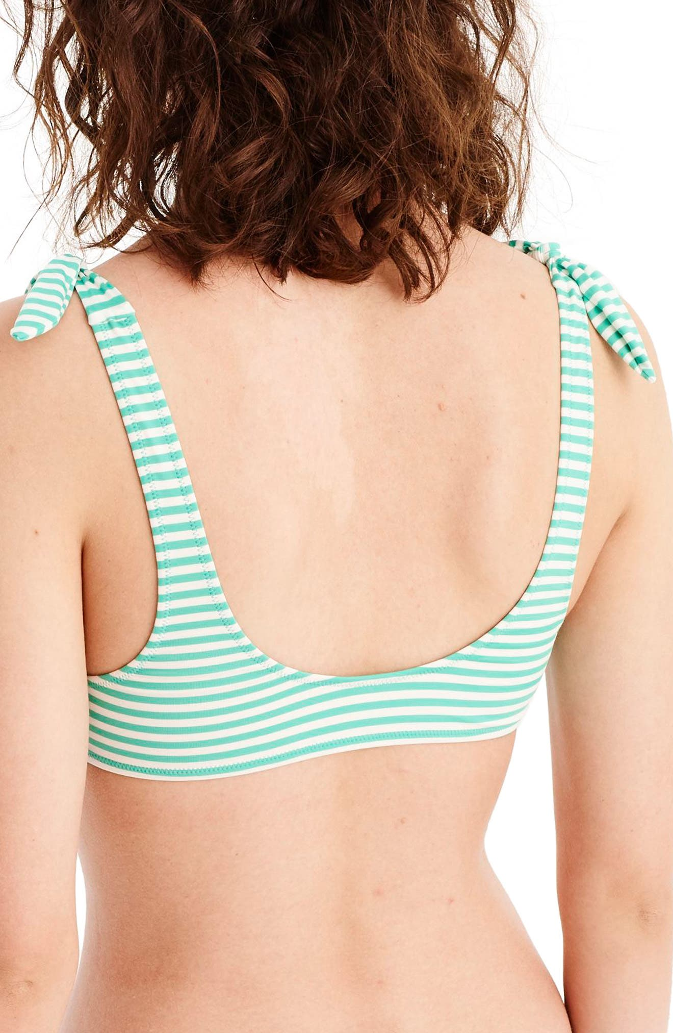 Playa Nantucket Bikini Top,                             Alternate thumbnail 2, color,                             Bright Patina Ivory