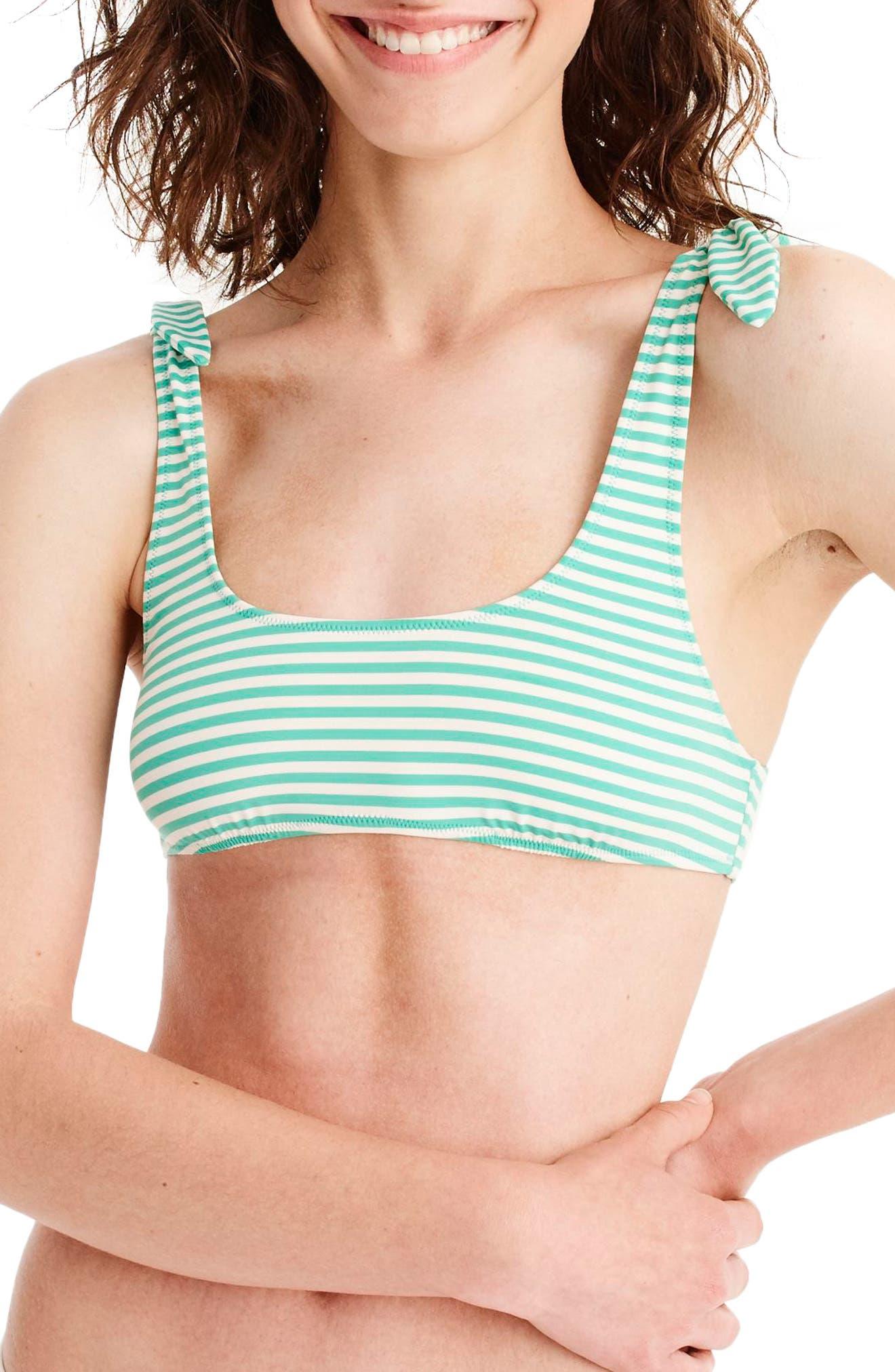 Playa Nantucket Bikini Top,                         Main,                         color, Bright Patina Ivory