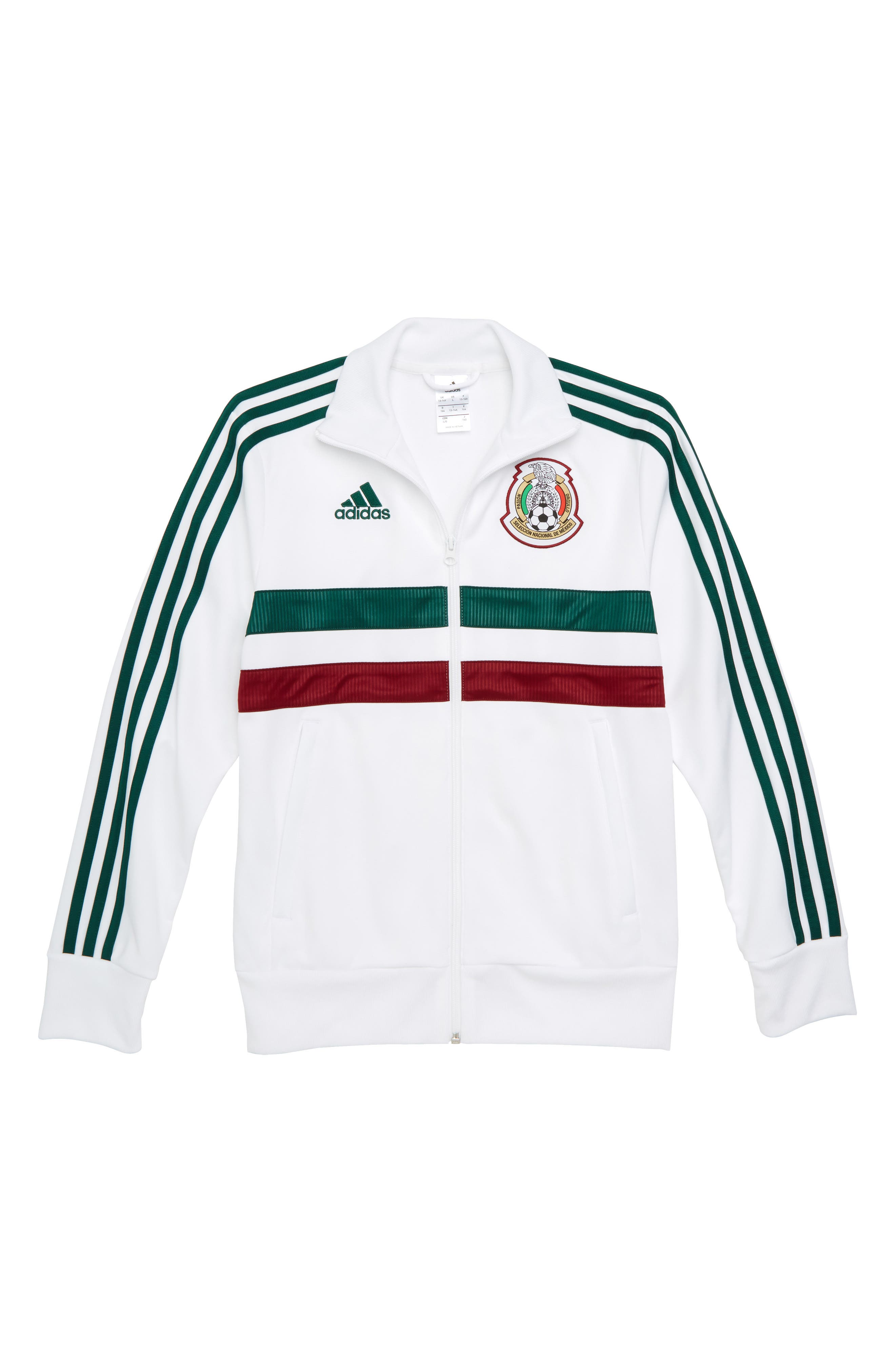 FIFA World Cup Soccer Mexico Jacket,                             Main thumbnail 1, color,                             White/ Collegiate Green
