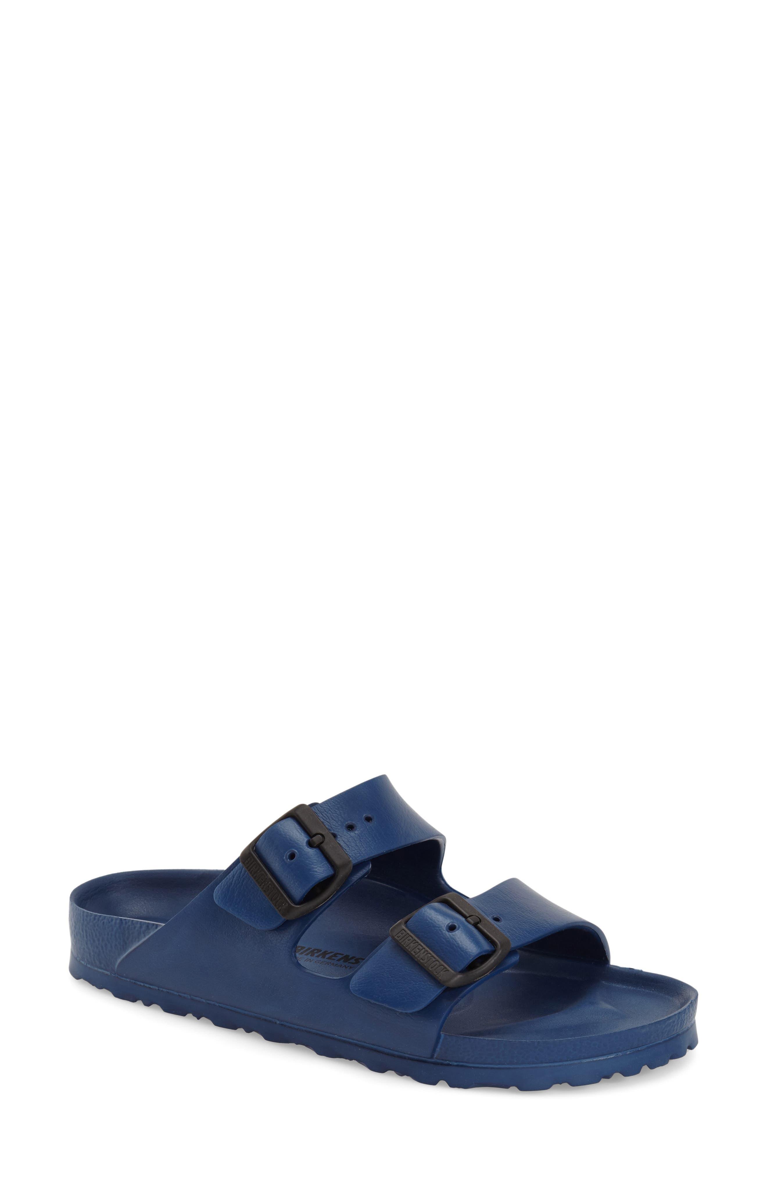 Essentials - Arizona Slide Sandal,                             Main thumbnail 1, color,                             Navy Eva