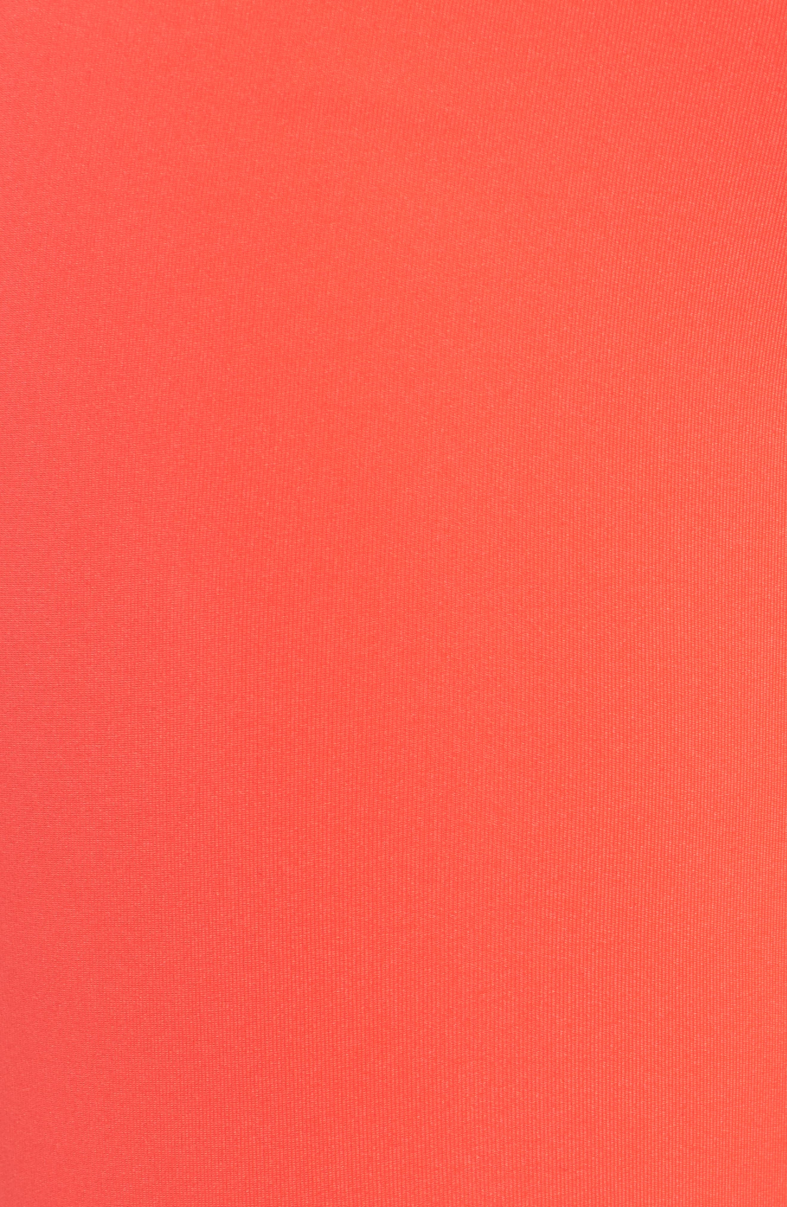 Elastic Logo Mid Rise Leggings,                             Alternate thumbnail 6, color,                             Neon Red