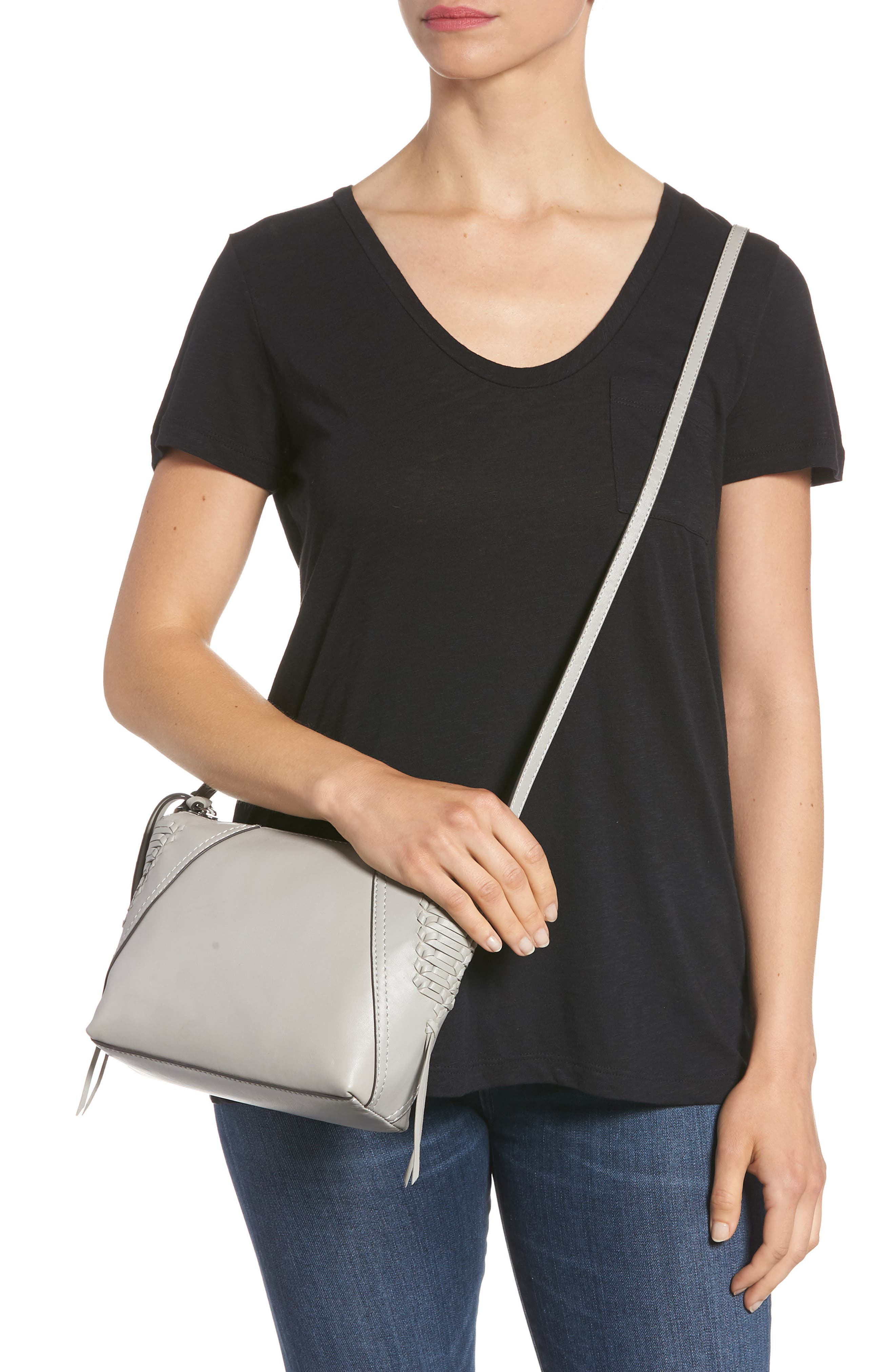 Ilda Leather Crossbody Bag,                             Alternate thumbnail 2, color,                             Full Steam