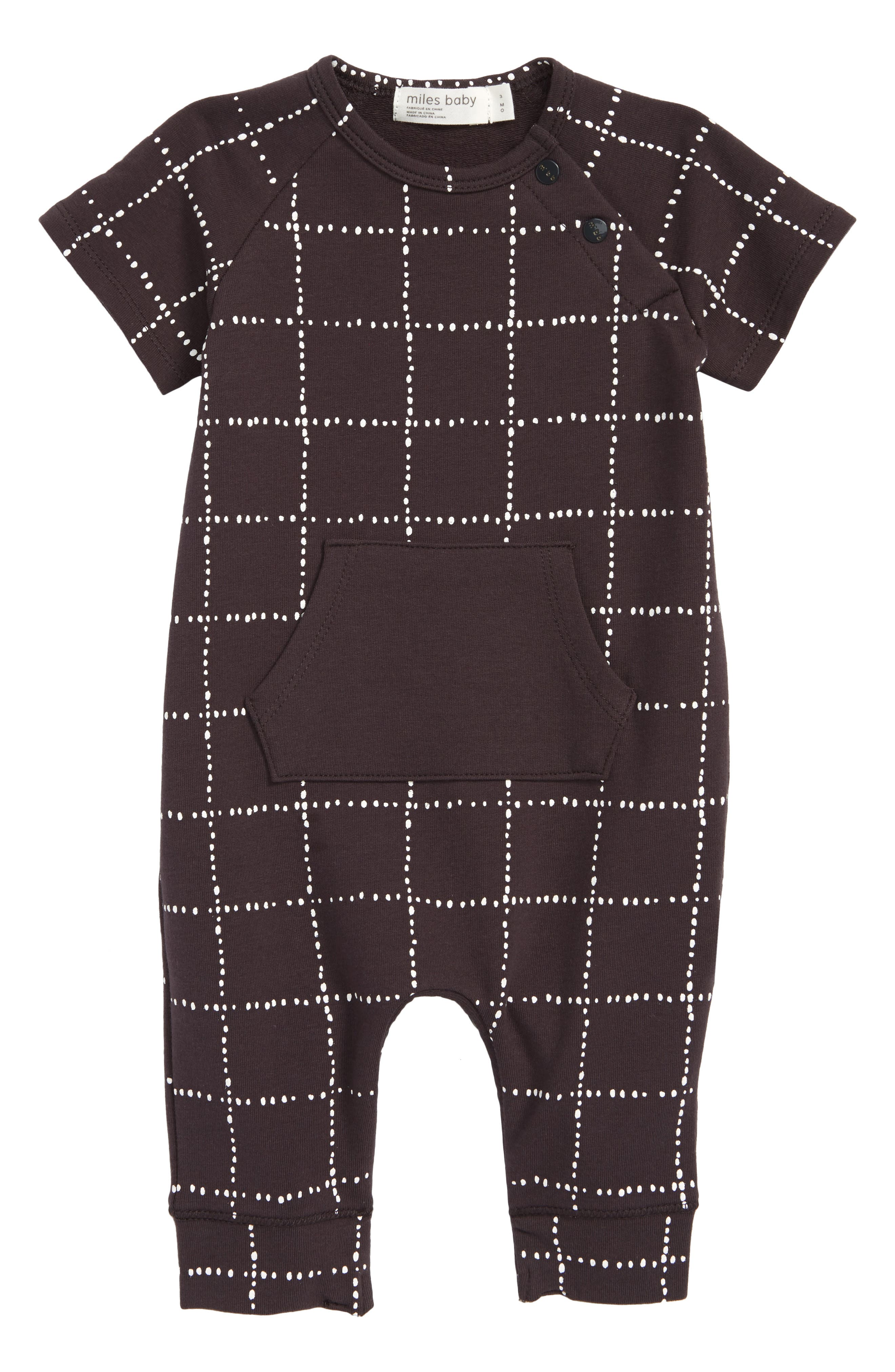 Miles Baby Check Romper (Baby)